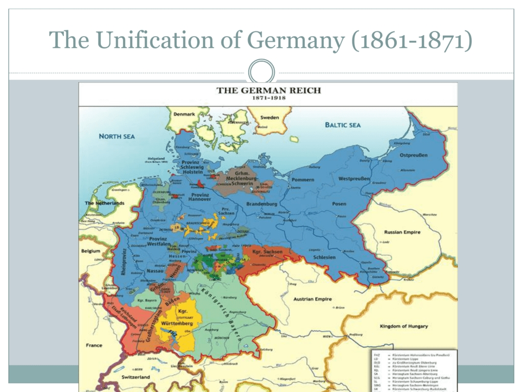 12. Unification Of Germany pertaining to Map Of German States Before Unification