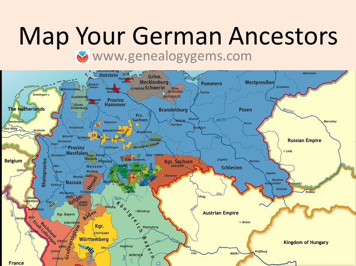 3 Free German Genealogy Websites: Maps Of Germany And Poland inside Map Of Germany In German