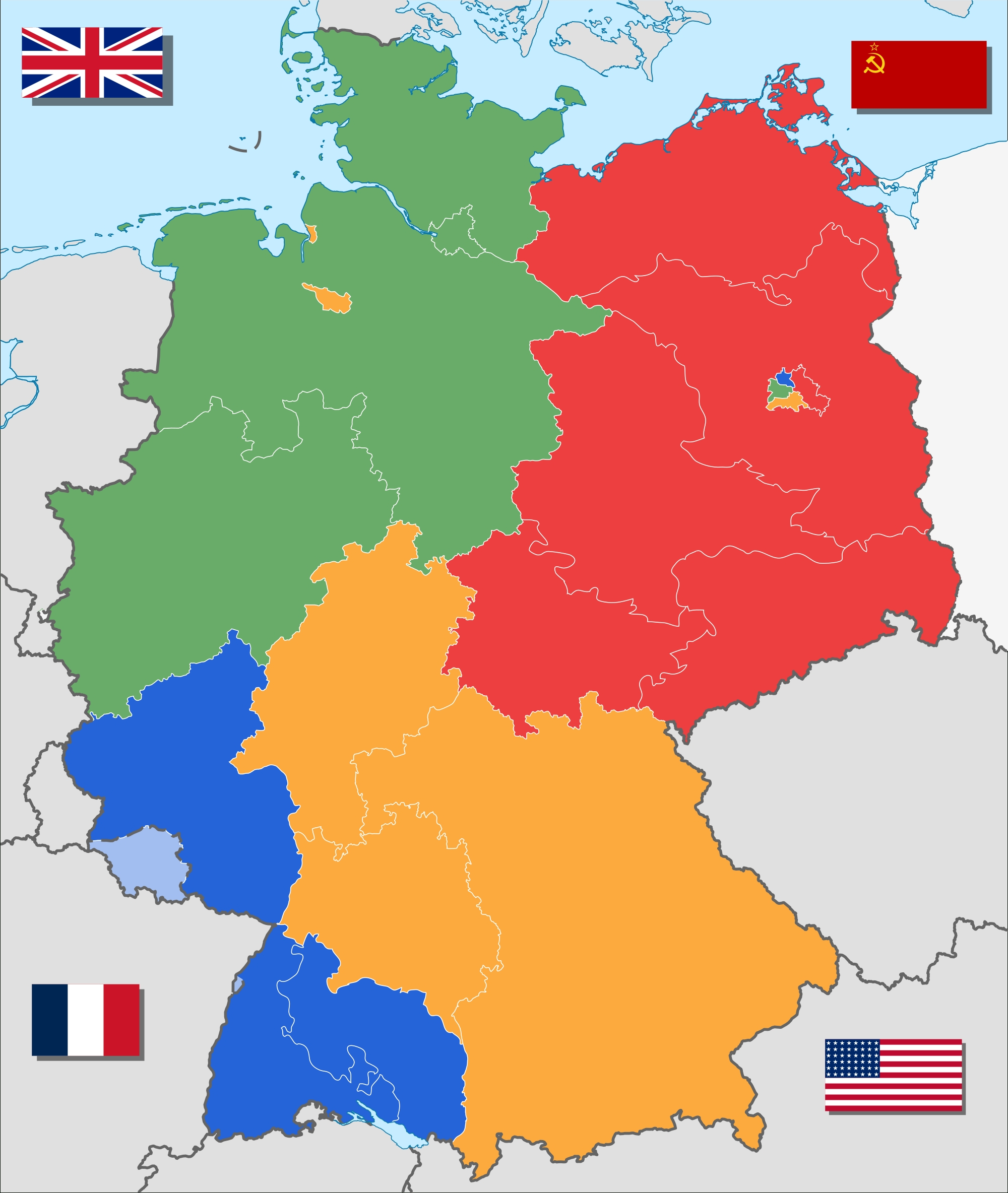 4 Ways To Divide Germany | Maps | Divided Germany, Germany, Berlin Wall with regard to Divided Germany Map