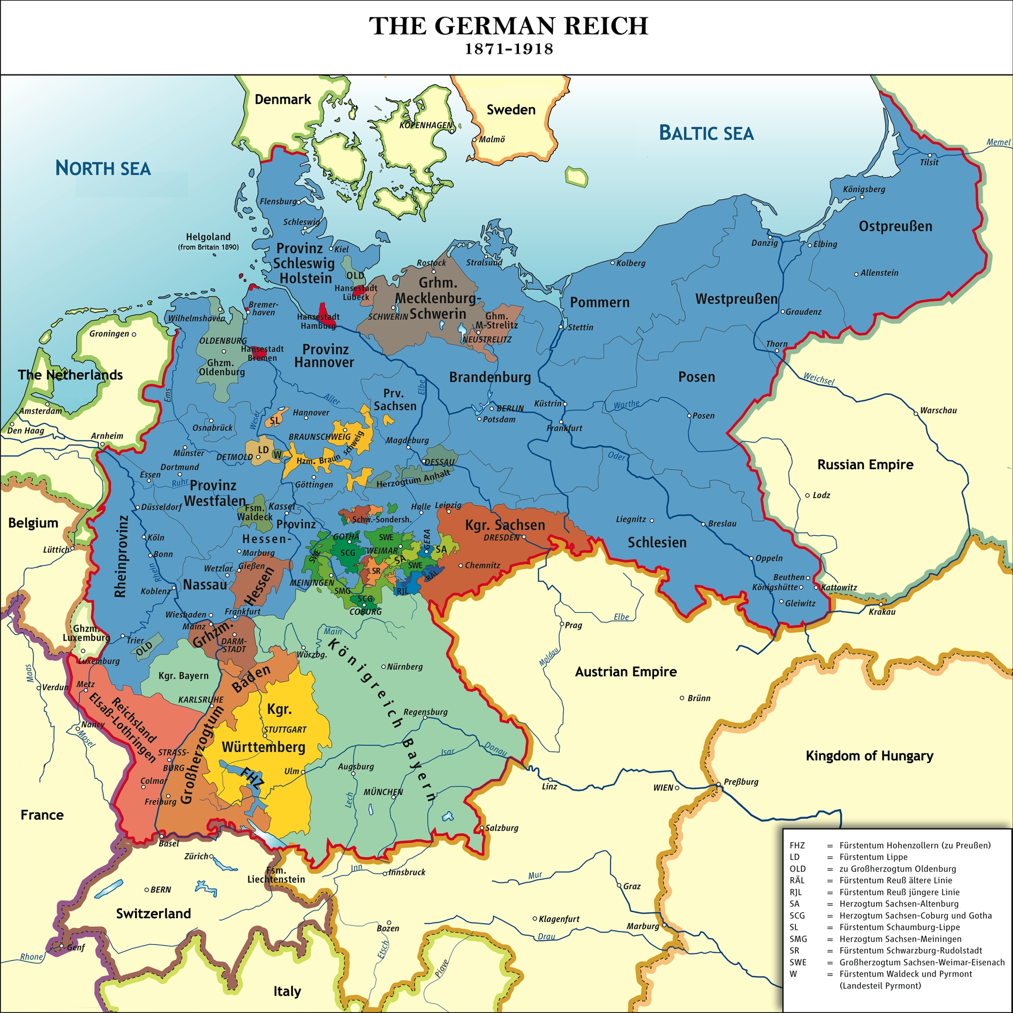 40 Maps That Explain World War I | Vox for Map Of Germany Pre Ww2