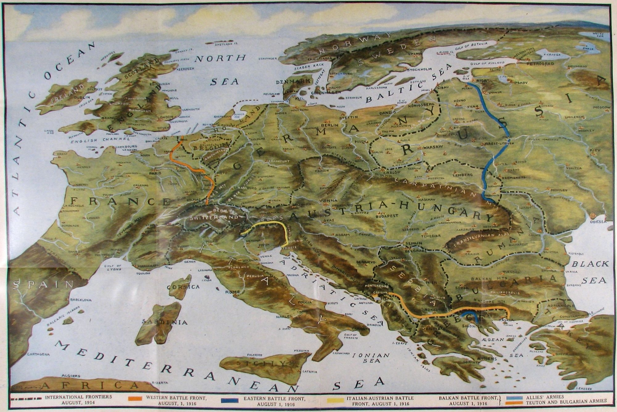 40 Maps That Explain World War I | Vox with Germany World War 1 Map