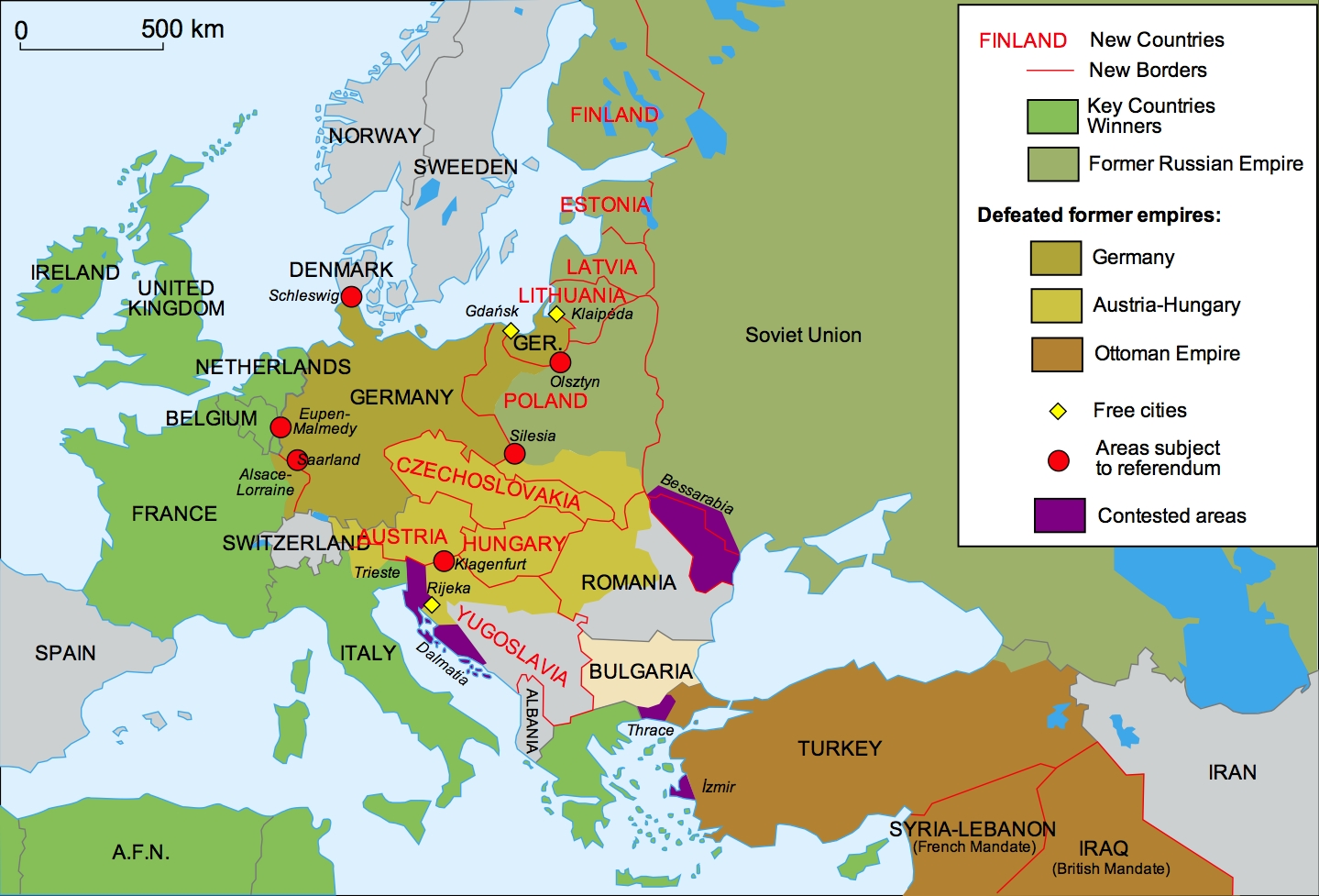 40 Maps That Explain World War I | Vox within Germany World War 1 Map