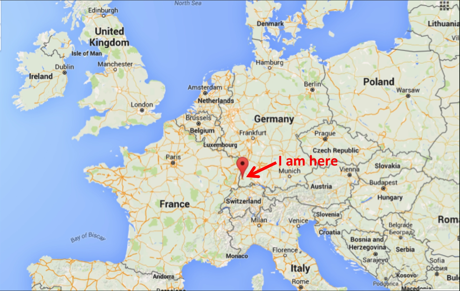 A Chemist Abroad: Dispatch #1 – Sustainable Nano with Freiburg Germany Map