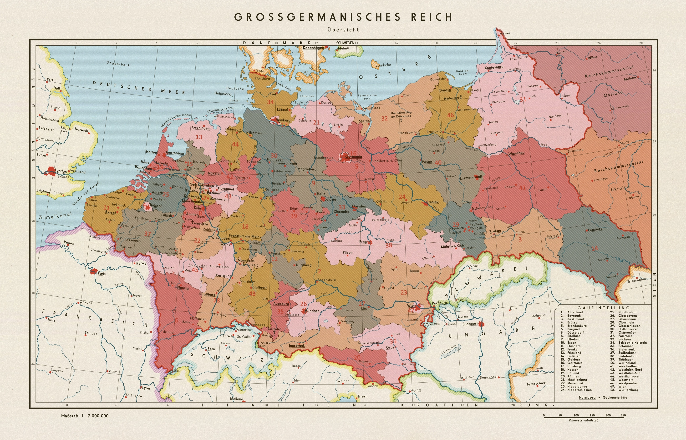 A Map Of Post-World War Ii Germany In A Scenario Where The Nazis Won pertaining to Post Ww2 Germany Map