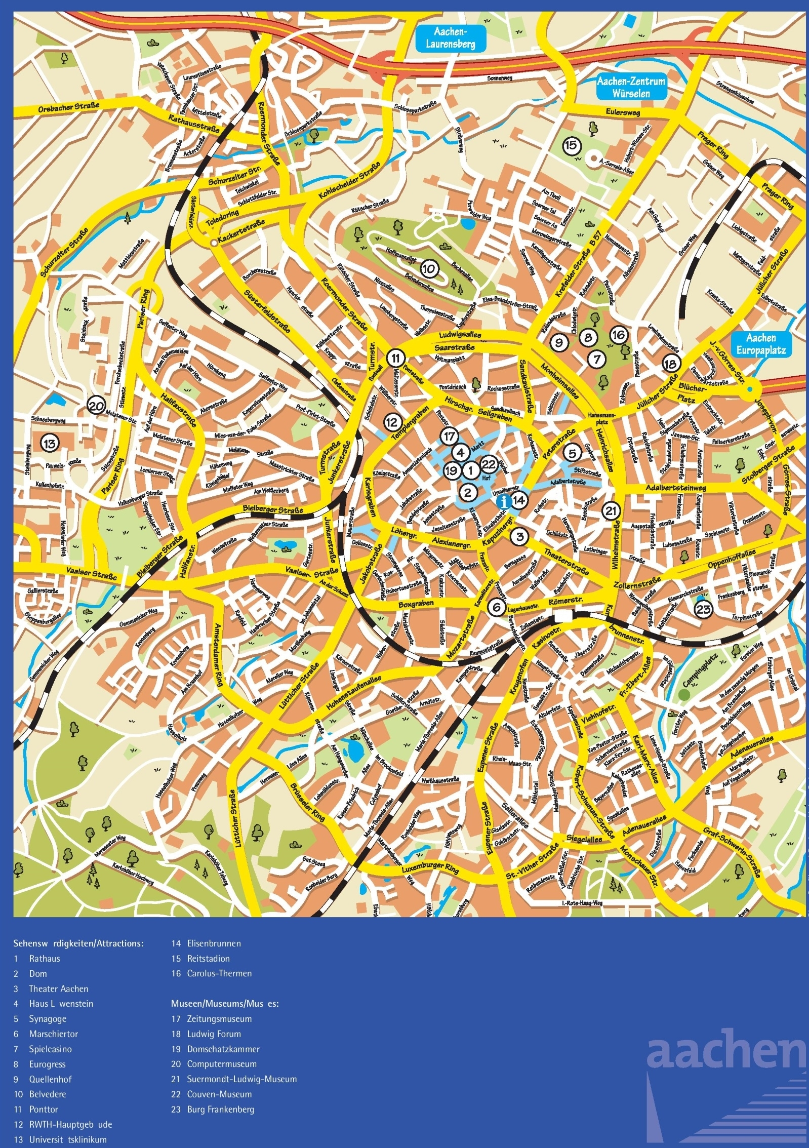 Aachen Maps   Germany   Maps Of Aachen within Aachen Germany Map