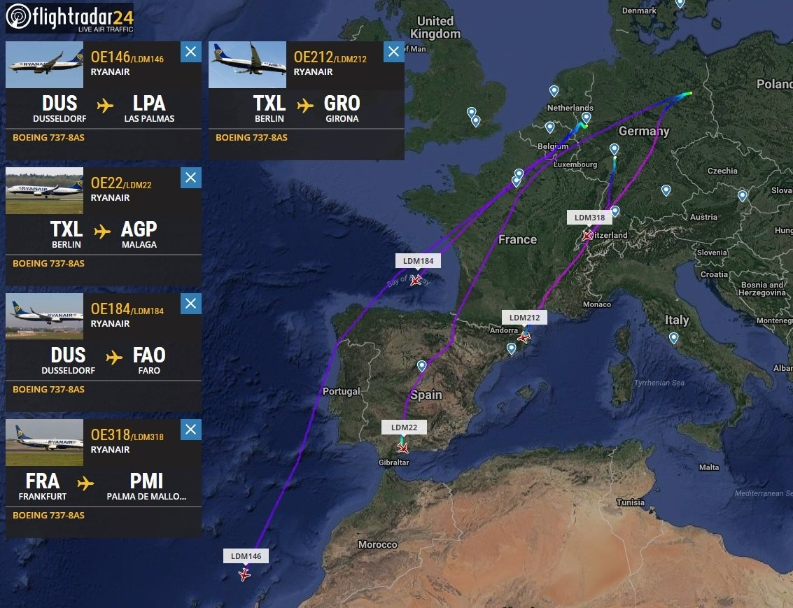 """Airport Webcams On Twitter: """"from Today Ryanair Adds New Bases regarding Ryanair Airports Germany Map"""