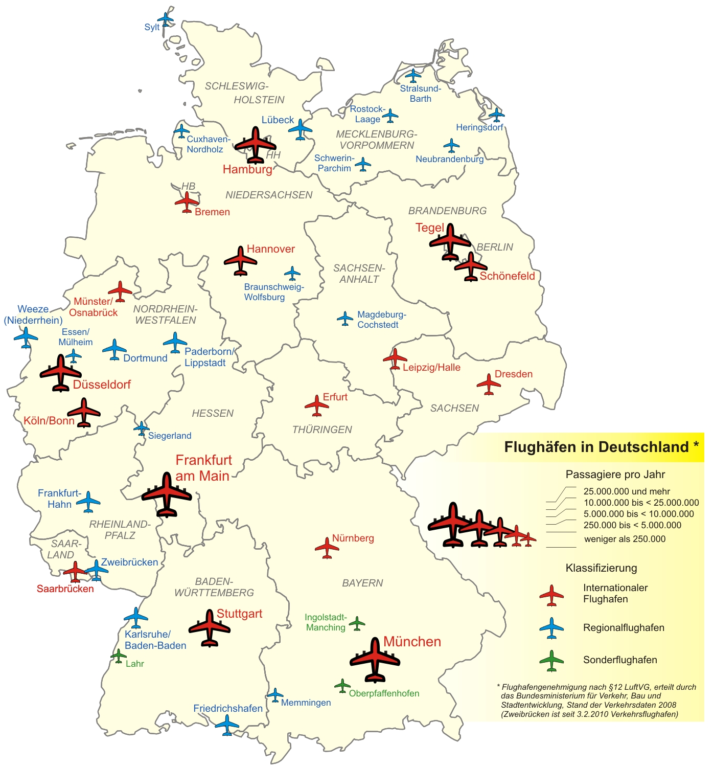 Airports In Germany - Full Size   Gifex inside Germany Airports Map