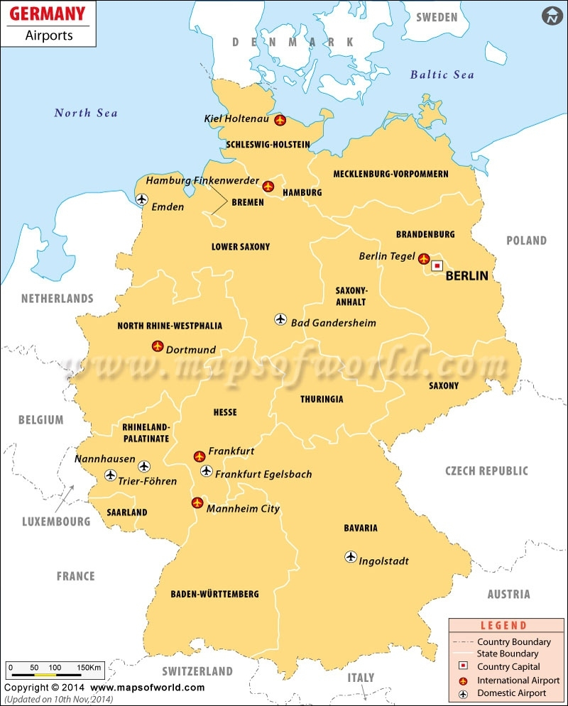 Airports In Germany, Germany Airports Map regarding Germany Airports Map