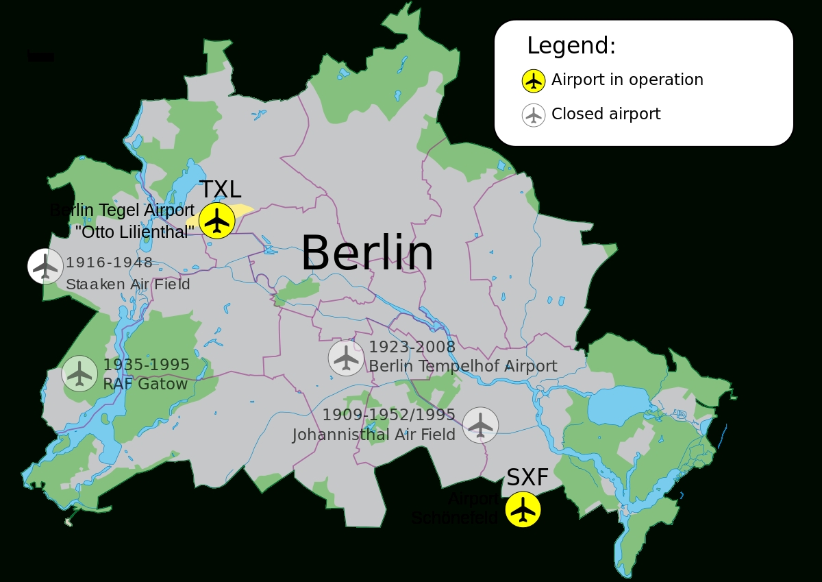 Airports Of Berlin - Wikipedia for Germany Airports Map