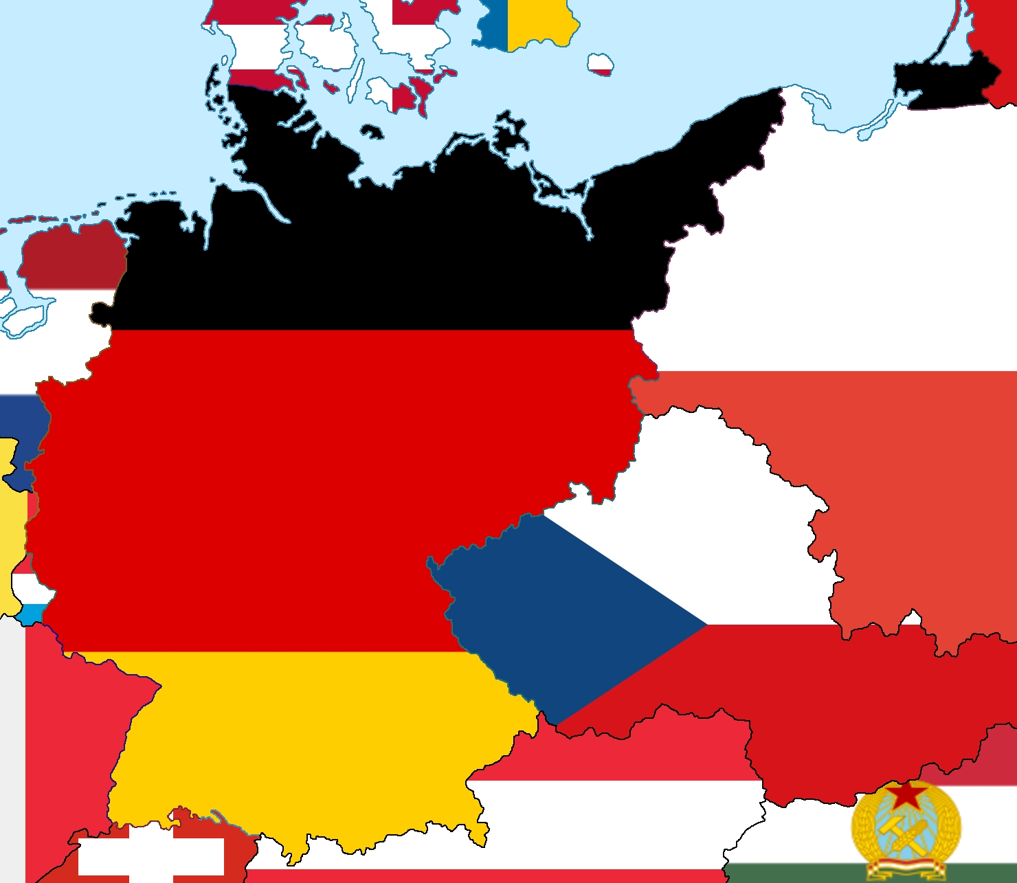 Alternate Post-Cold War Germany : Imaginarymaps with regard to Cold War Germany Map