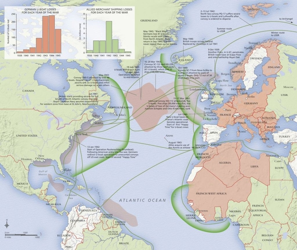 Attention Ww2 Buffs Map Showing Atlantic Battles   Informative throughout Ww2 German Maps Of Britain