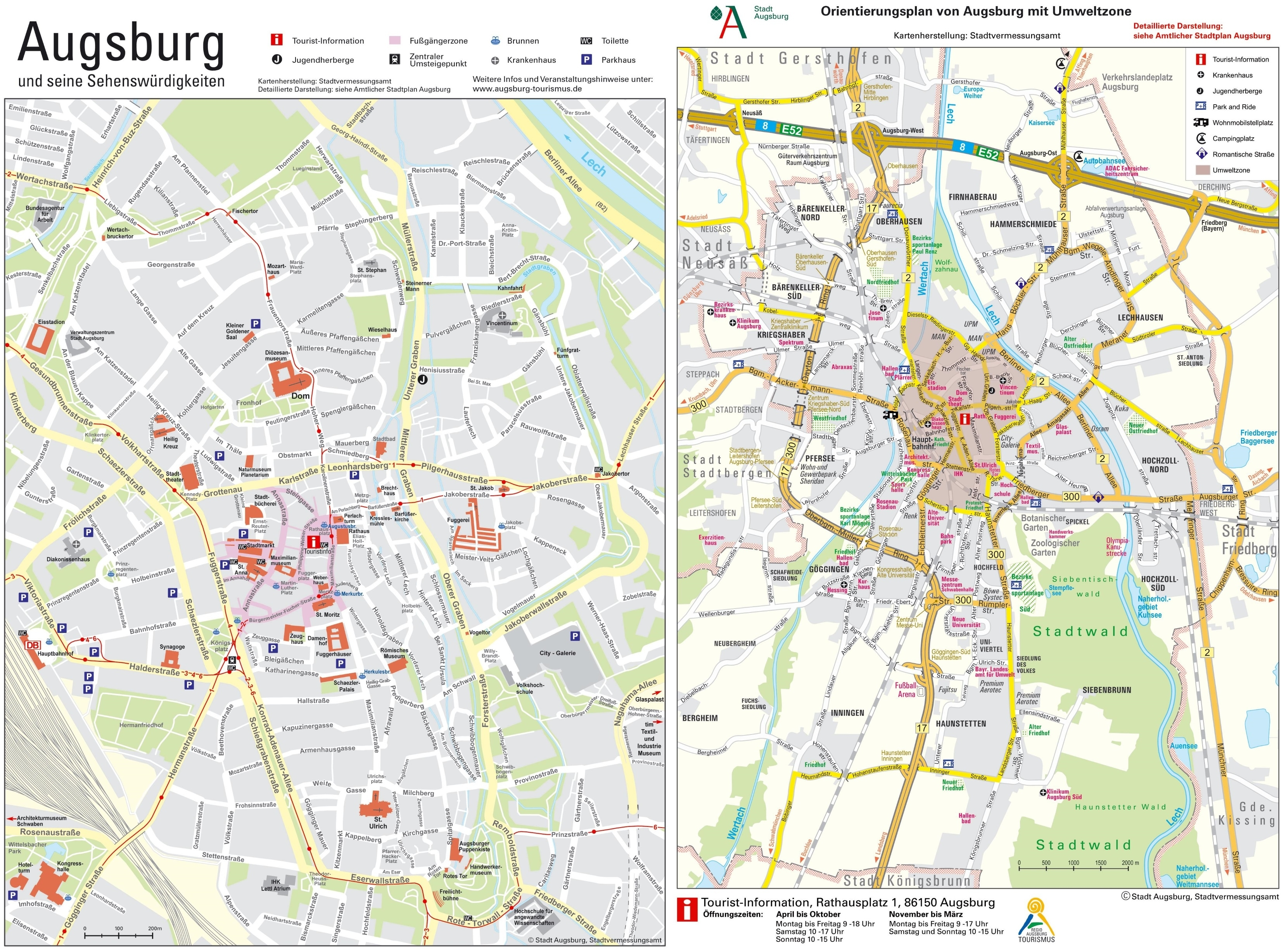 Augsburg Maps   Germany   Maps Of Augsburg in Augsburg Germany Map