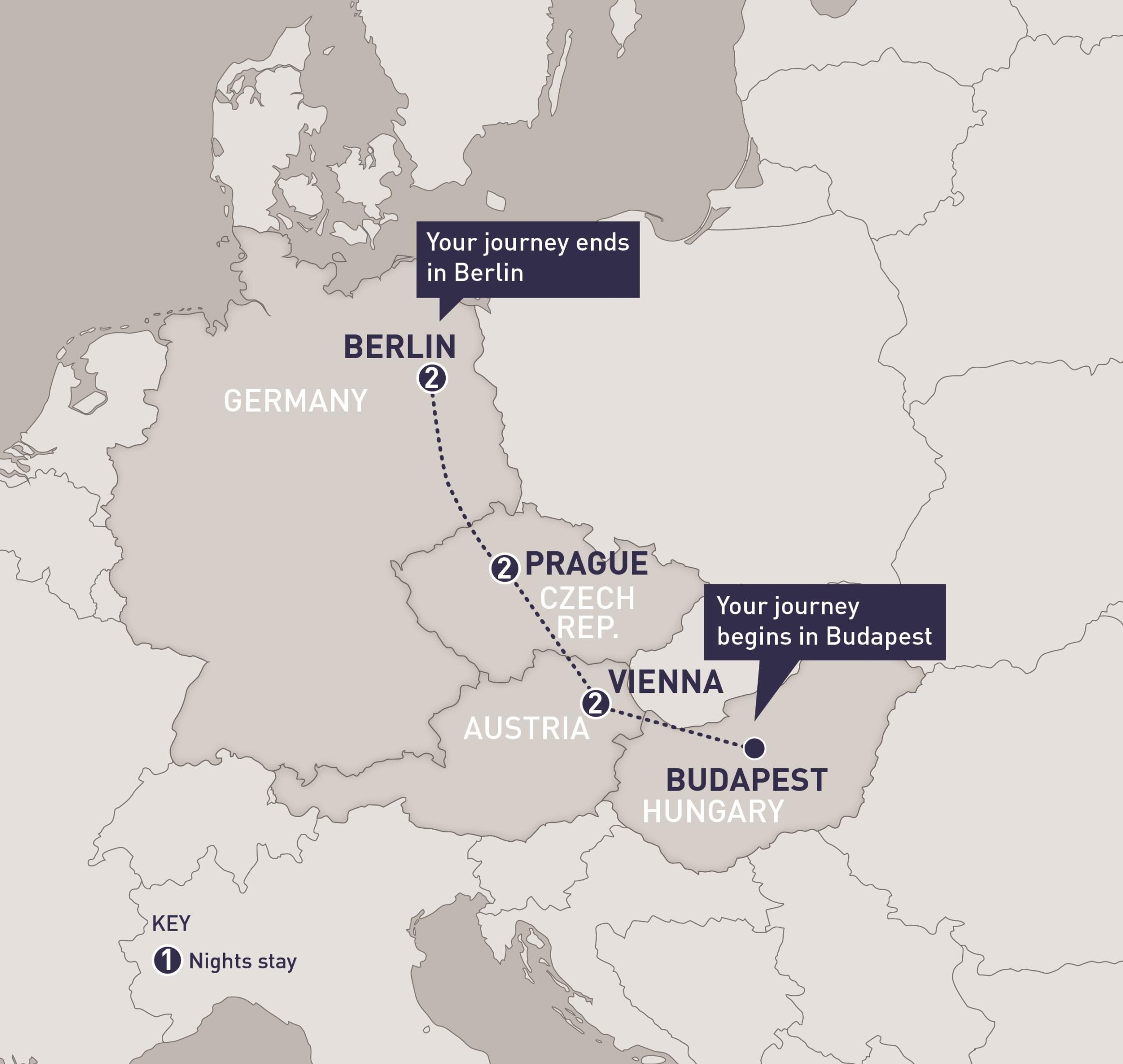 Austriatrain   Railbookers Vacations for Map Of Germany Austria And Prague