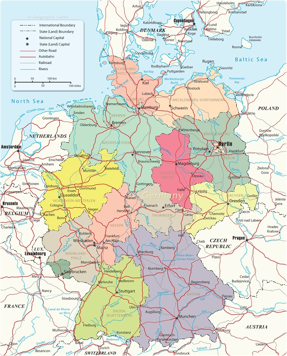 Autobahn Map In Germany within Autobahn Road Map Germany