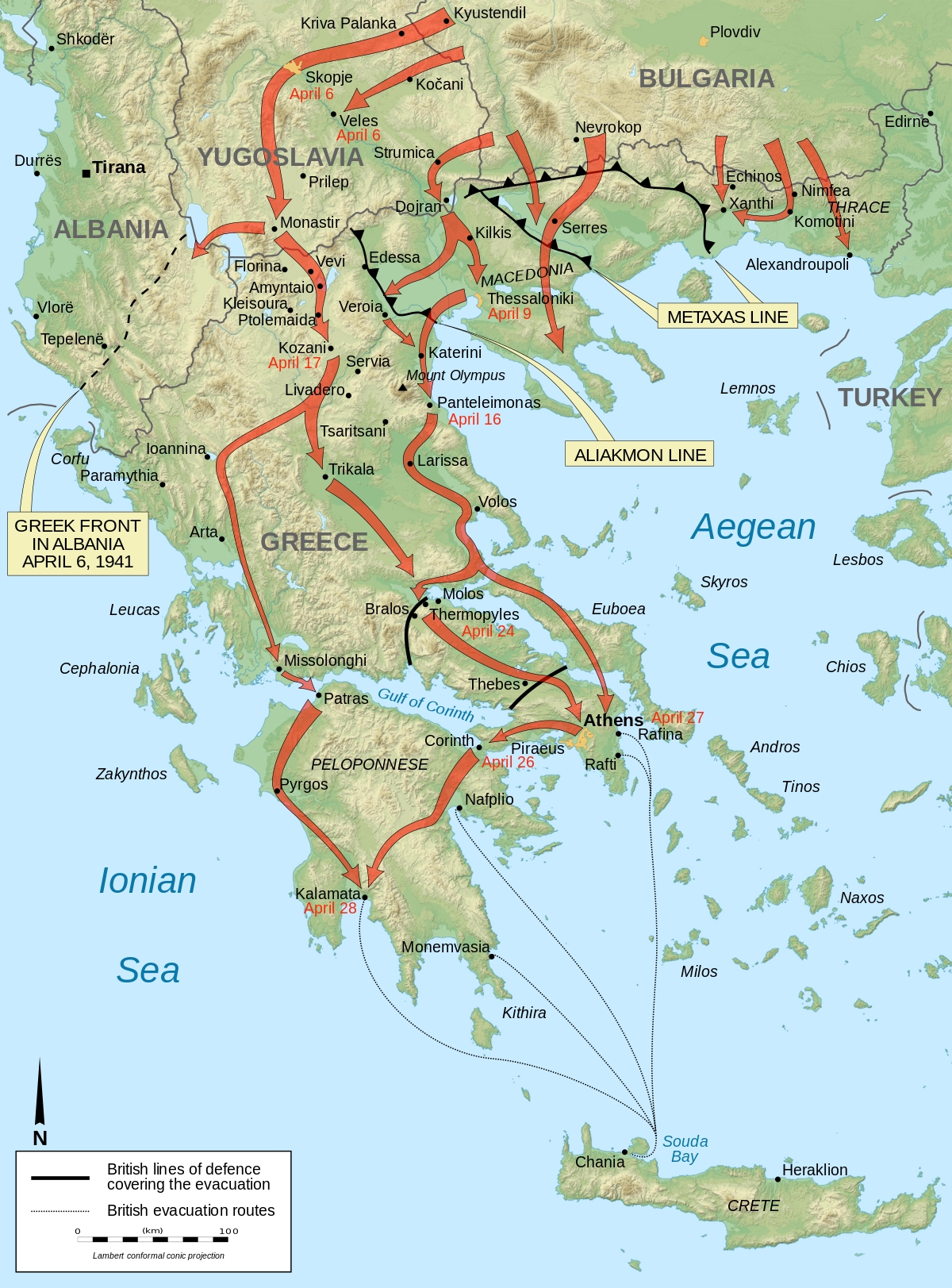 Battle Of Greece - Wikipedia with regard to Map Of Germany During World War 2