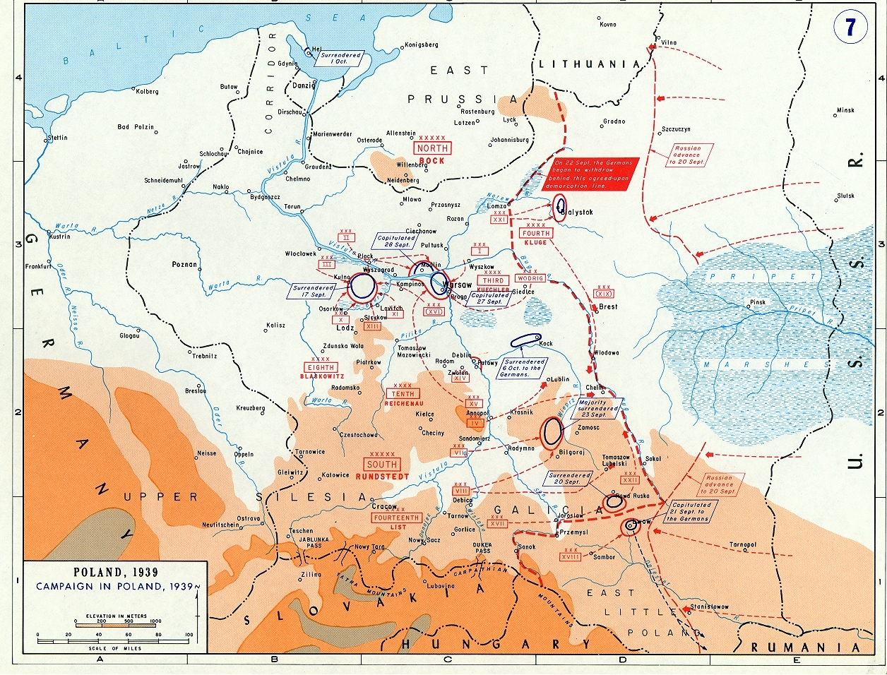 Battle Of Poland Maps | Historical Resources About The Second World War regarding Map Of German Invasion Ww2