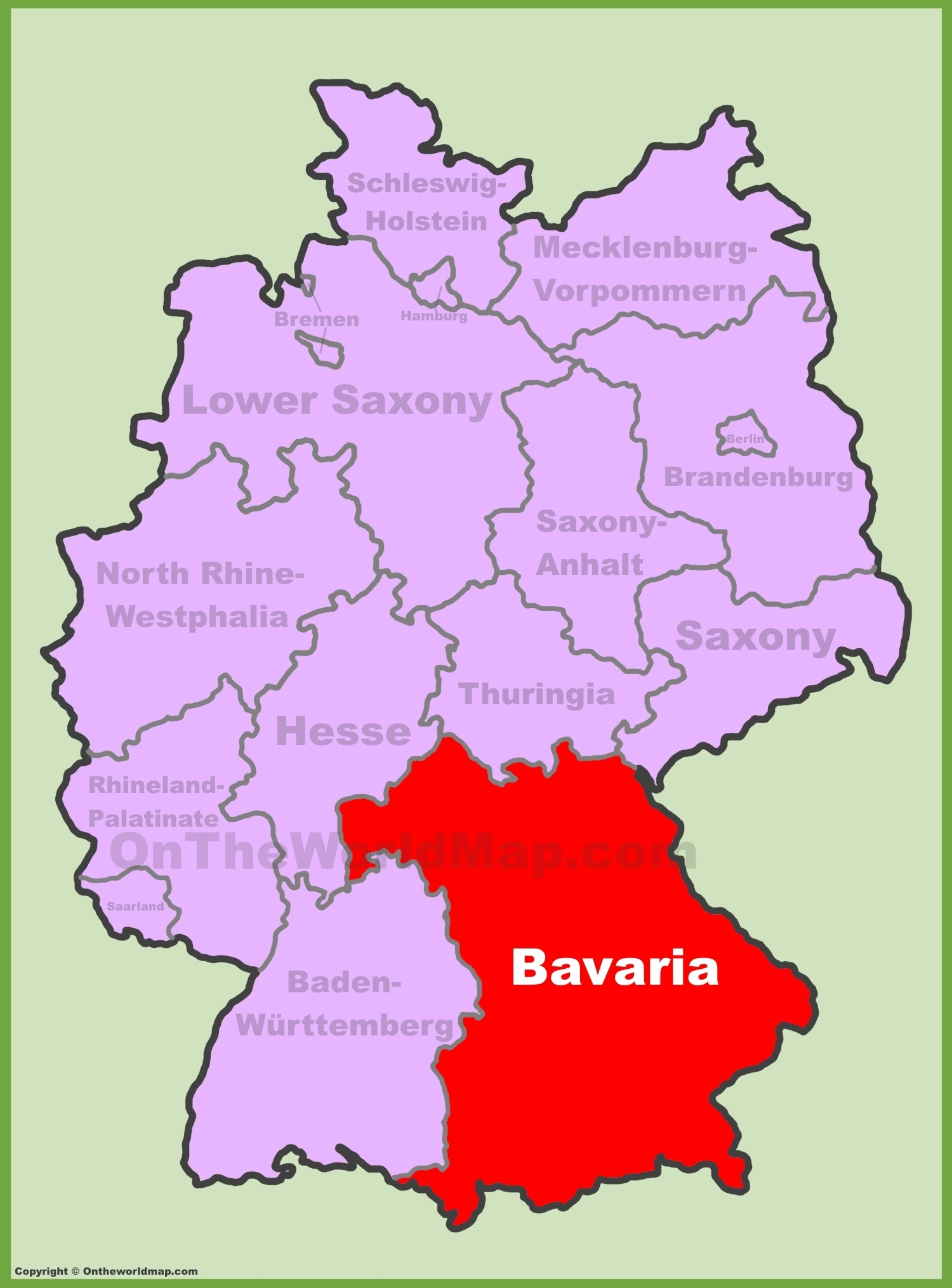 Bavarian Map And Travel Information   Download Free Bavarian Map pertaining to Bavarian Alps Germany Map
