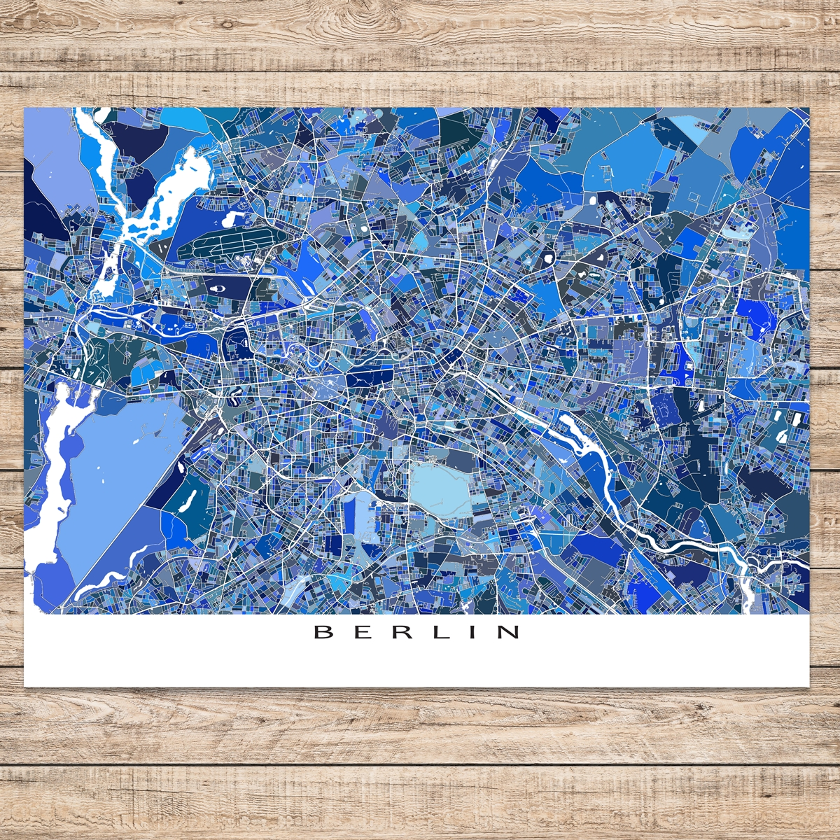 Berlin Map Print, Germany   Germany Map Prints   Map Art, Map with regard to Map Of Germany To Print