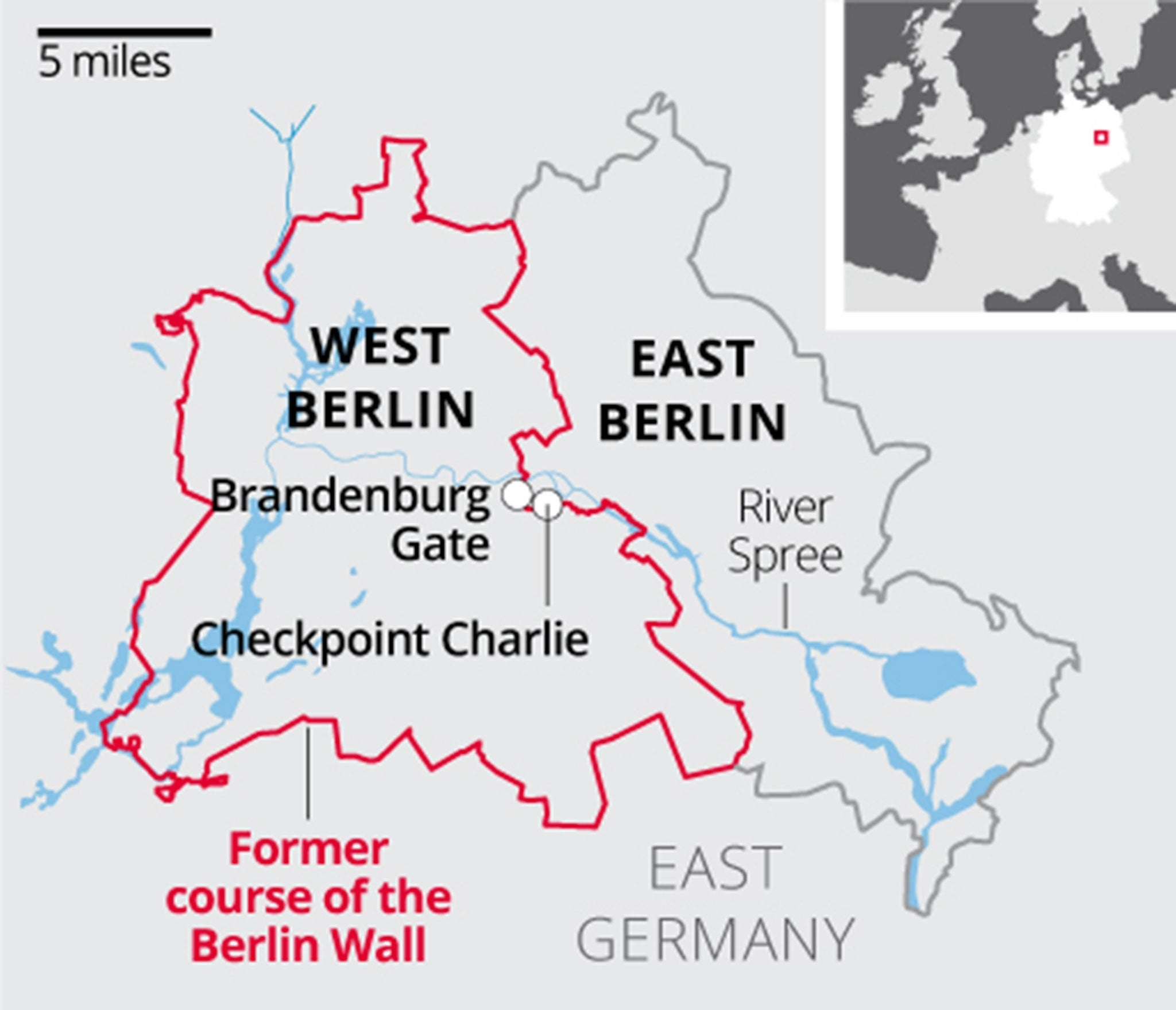 Berlin Wall: What You Need To Know About The Barrier That Divided in East And West Germany Border Map