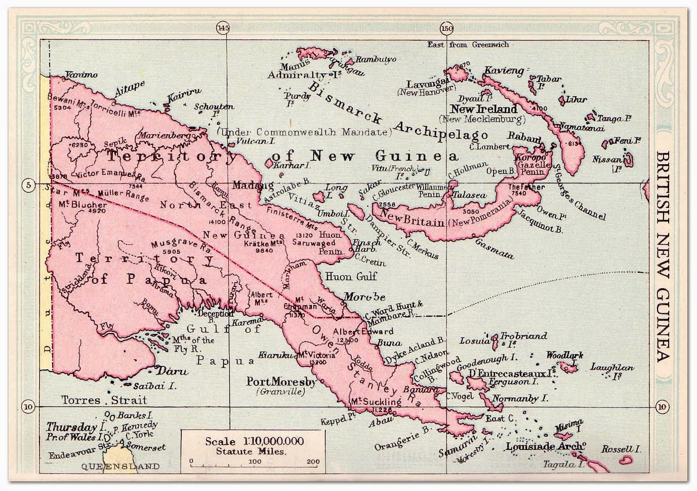 Big Blue 1840-1940: Papua within German New Guinea Map