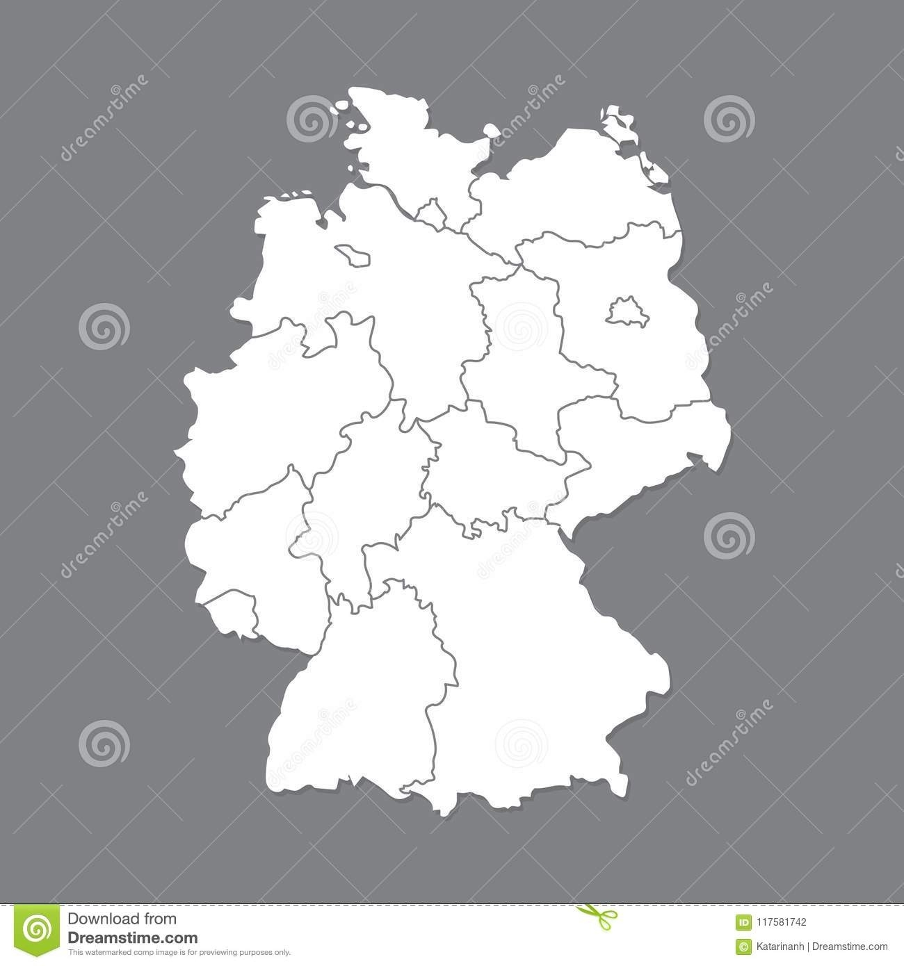 Blank Map Germany. High Quality Map Of Germany With Borders Of The inside Blank Map Of Germany And Surrounding Countries