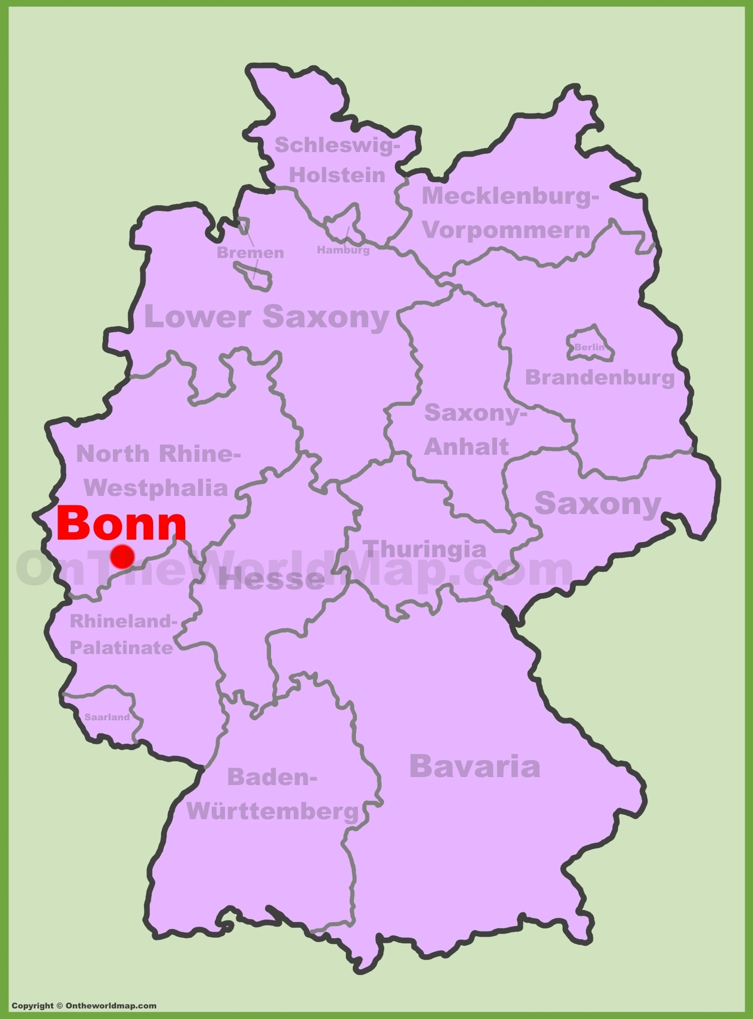 Bonn Location On The Germany Map pertaining to Bonn Germany Map