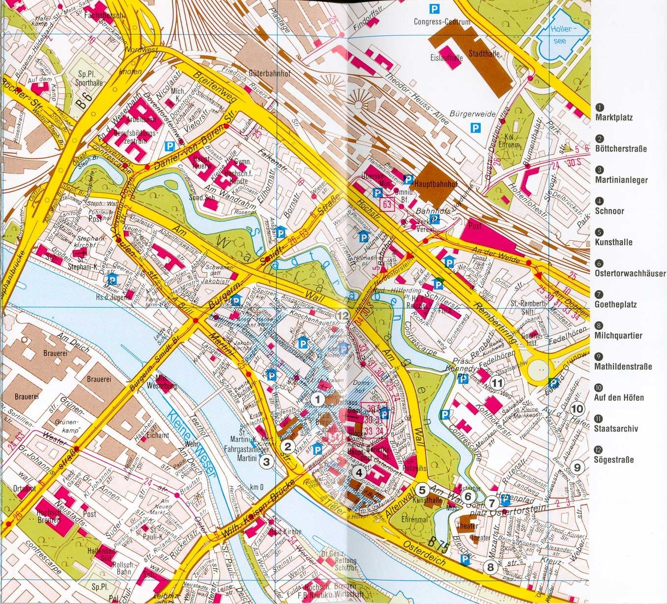 Bremen Map - Detailed City And Metro Maps Of Bremen For Download with Bremen On Map Of Germany