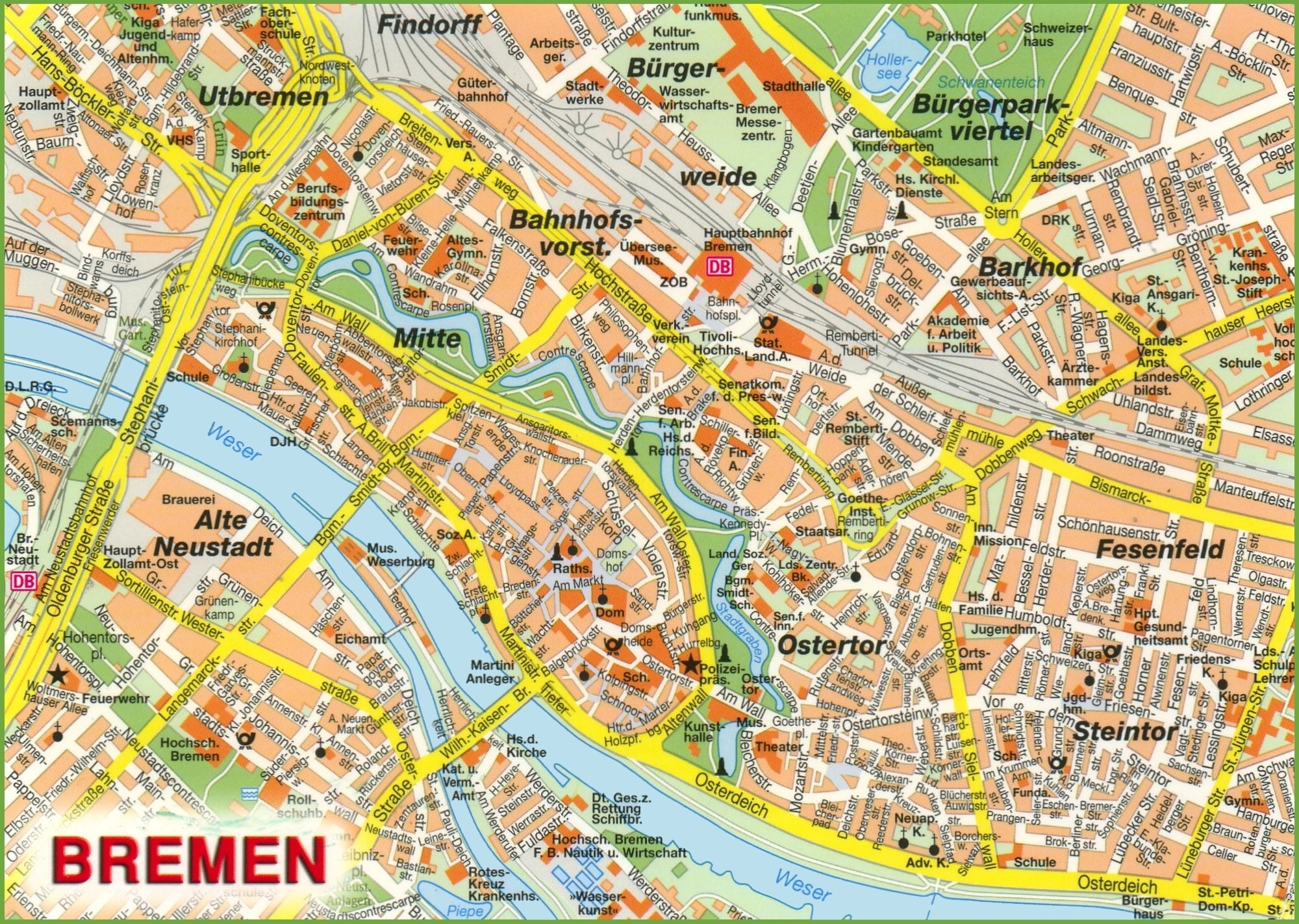 Bremen Maps   Germany   Maps Of Bremen with Bremen On Map Of Germany
