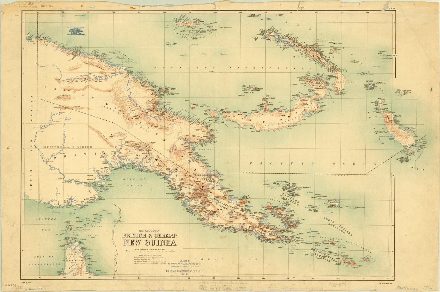 British And German New Guinea - World Digital Library with regard to German New Guinea Map