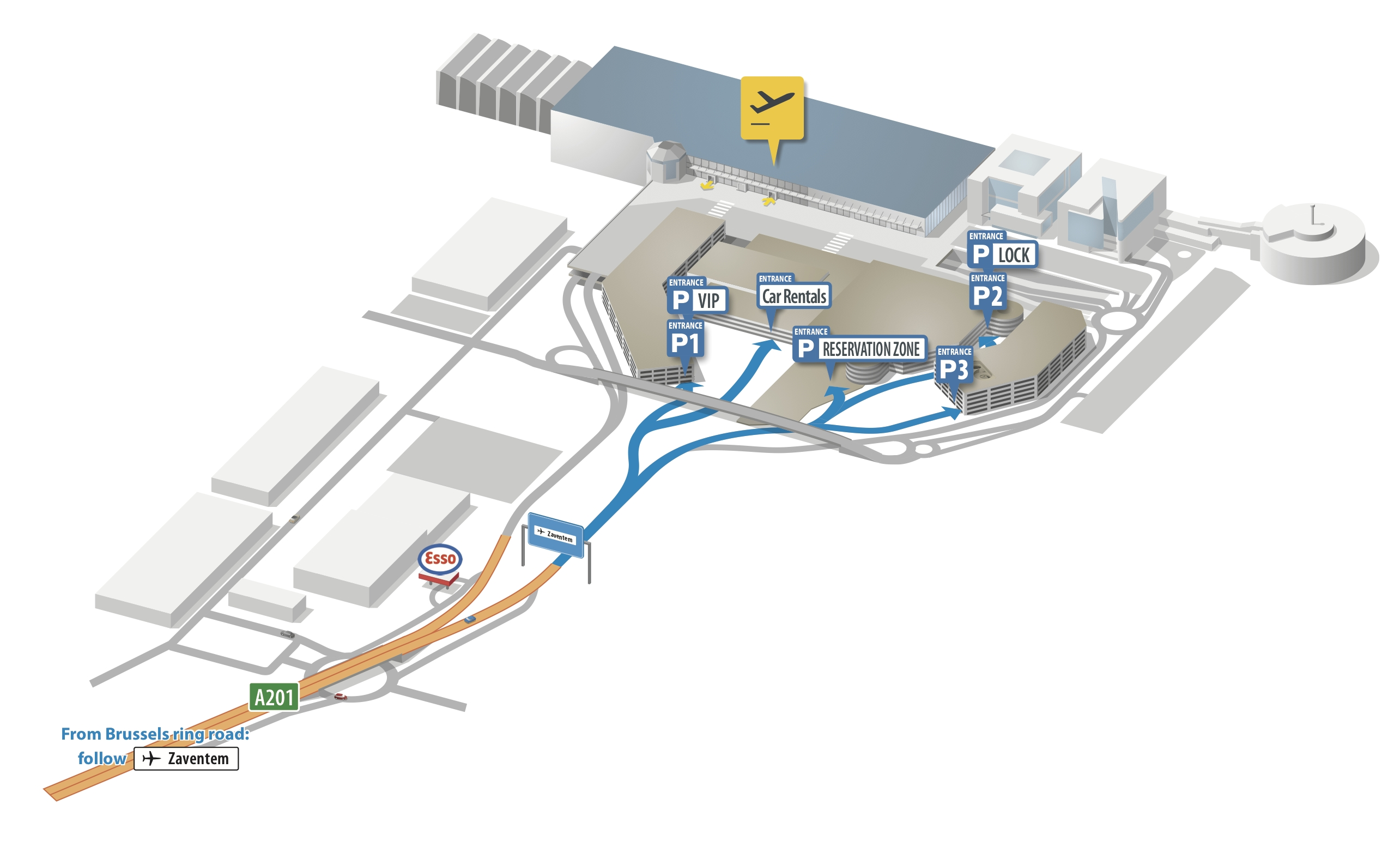 Brussels Airport Map – Zaventem   Bruxx intended for Ryanair Airports Germany Map