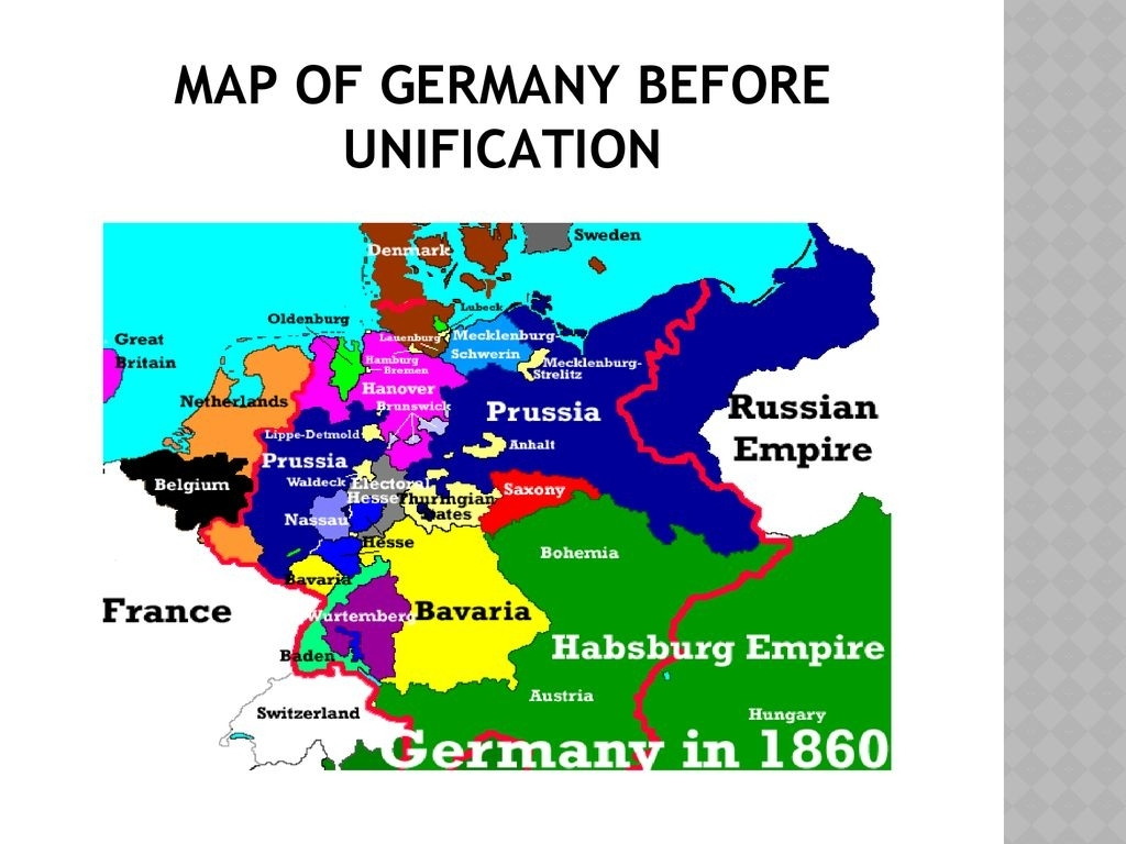 Building A German Nation - Ppt Download inside Map Of Germany Before Unification