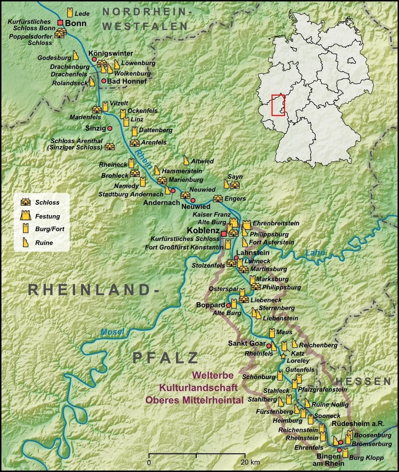 Castles Of The Rhine Valley   Travel Bucket List   European Travel within Rhine Valley Germany Map