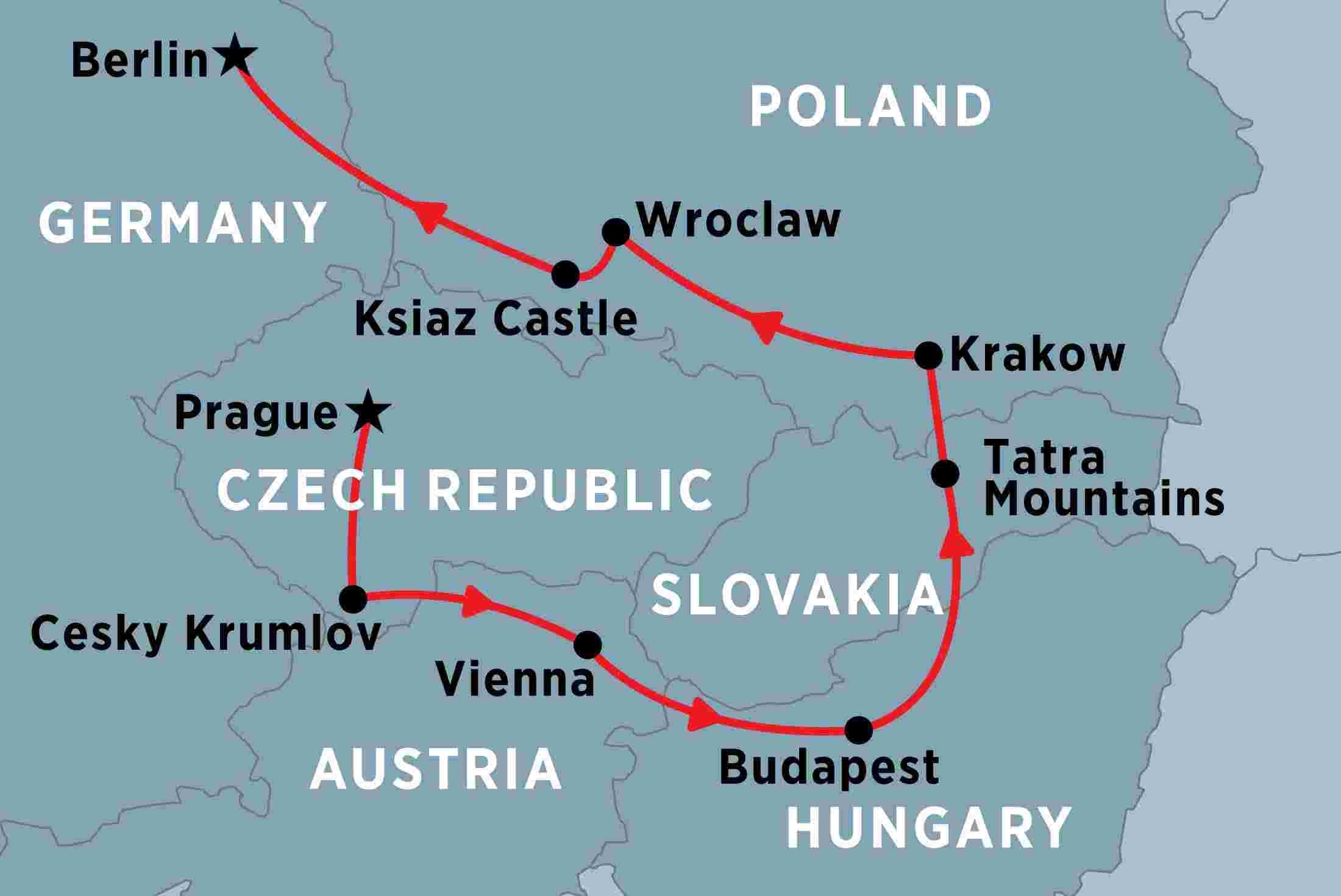 Central Europe Unveiled Overview   Central Europe Unveiled in Map Of Germany Austria And Prague