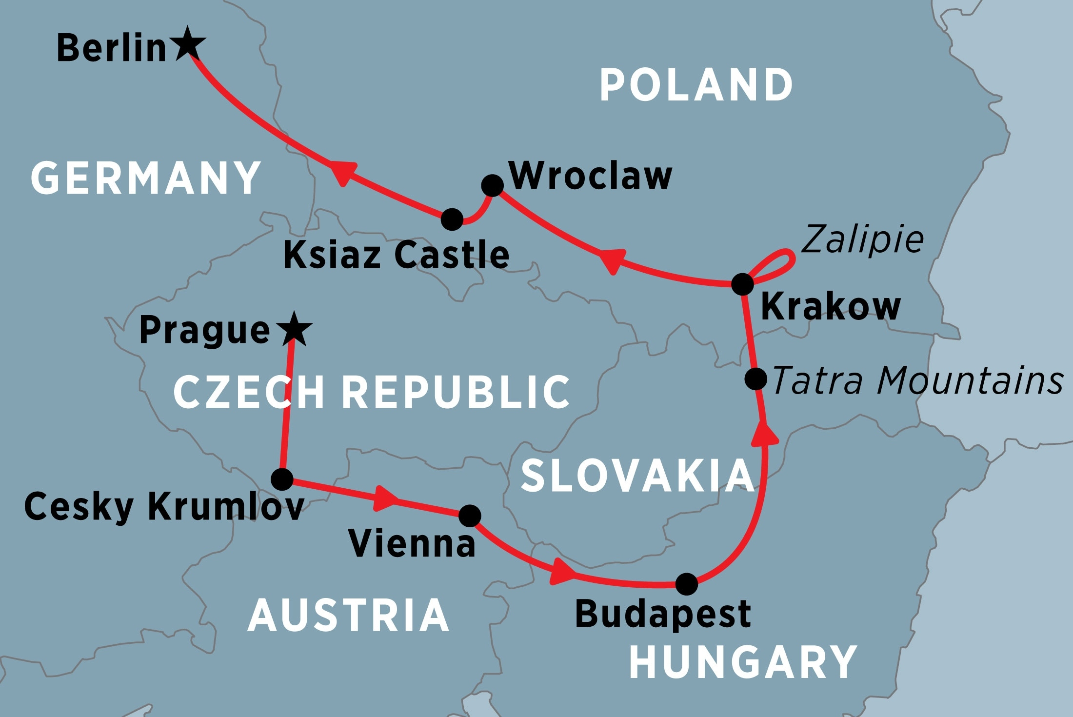 Central Europe Unveiled Overview | Central Europe Unveiled pertaining to Germany Austria Czech Map