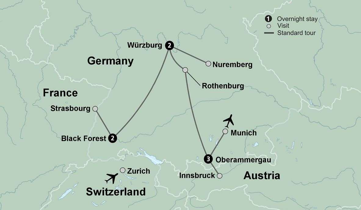 Christmas Market Tours In Europe | Collette intended for Map Of German Christmas Markets