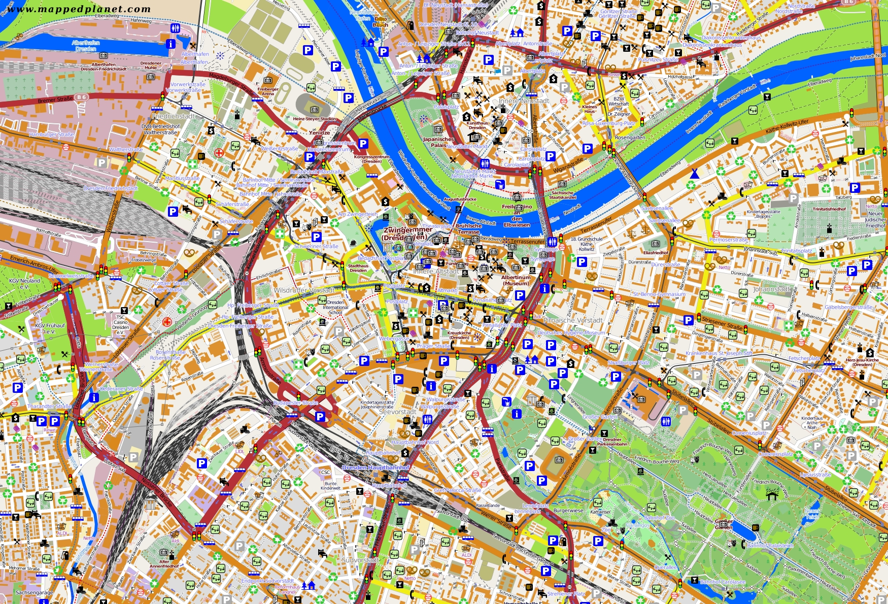 City Maps Dresden within Dresden Germany City Map