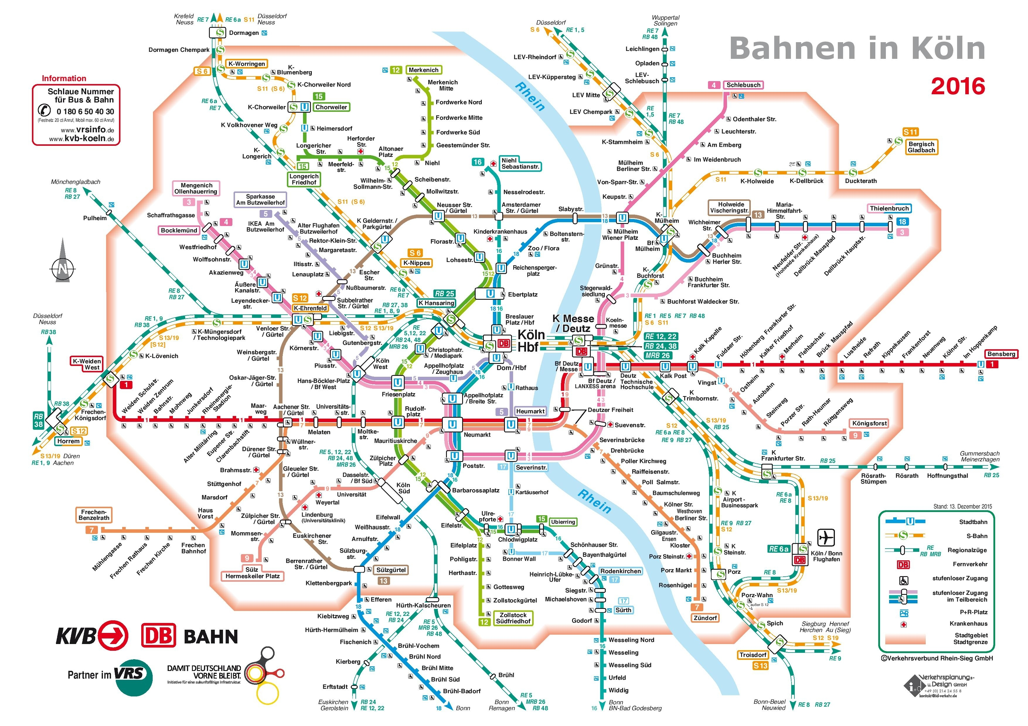Cologne Rail Map in Cologne Germany Map