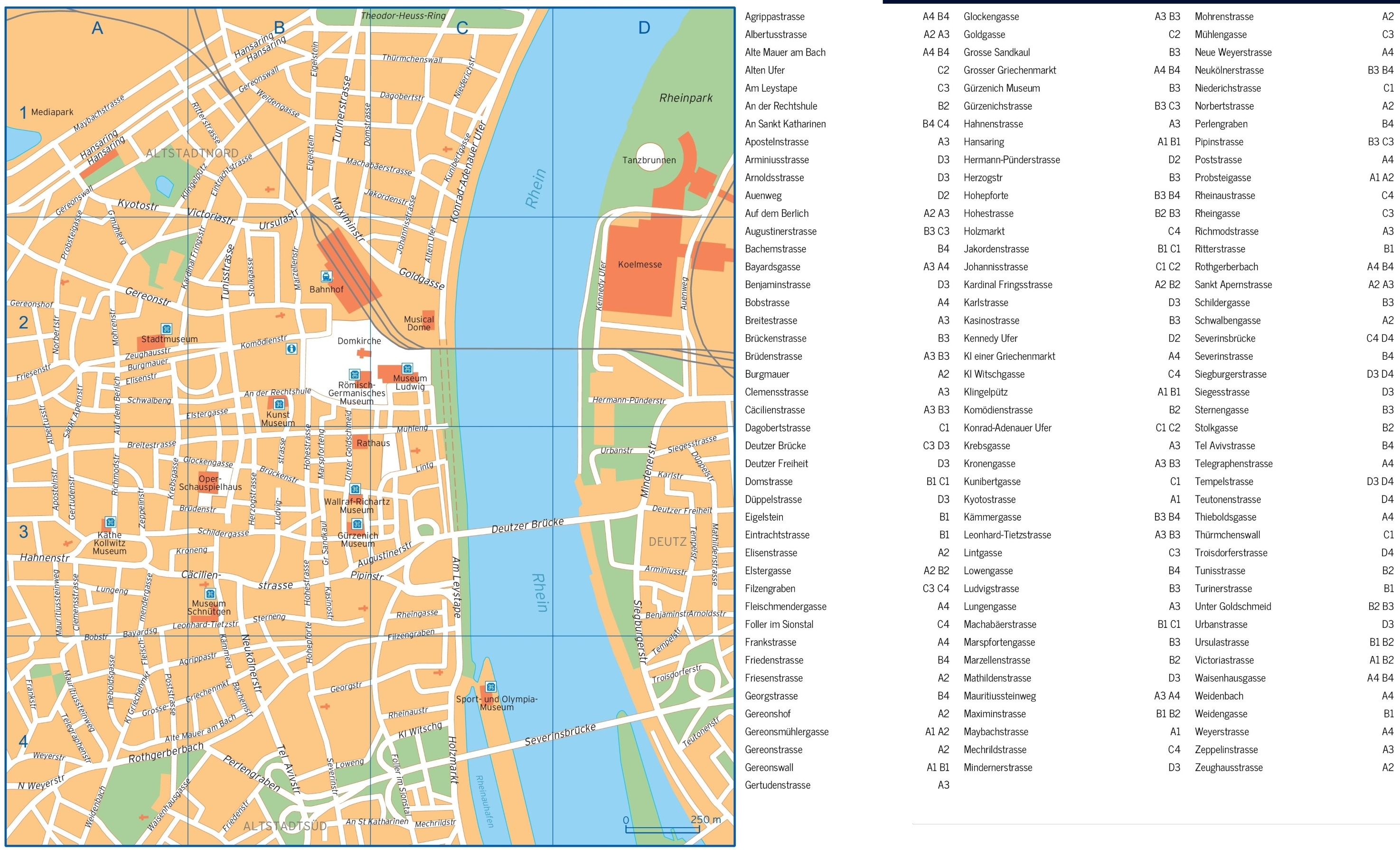 Cologne Street Map in Street Map Of Bonn Germany