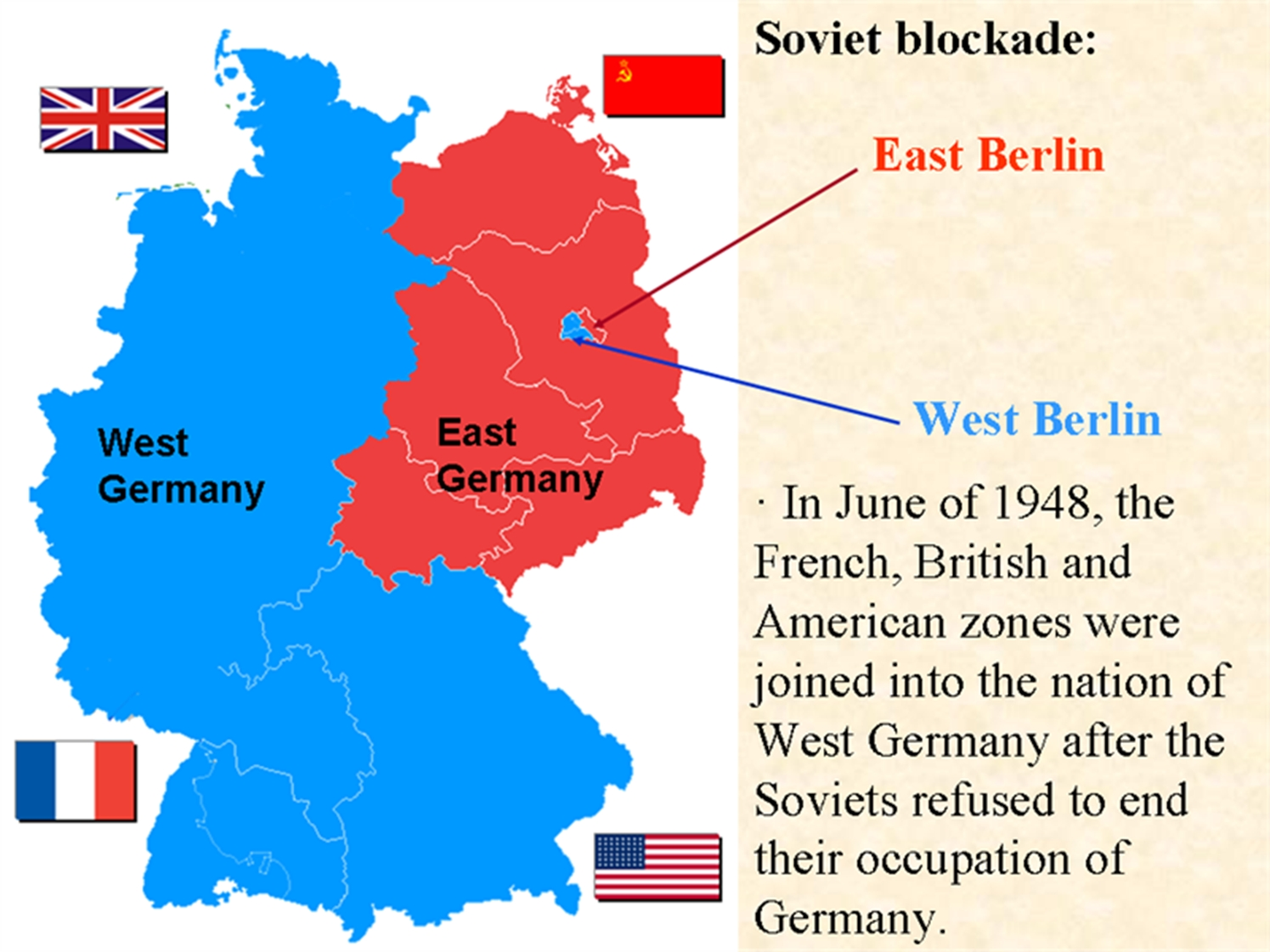 Condition Of Germany Post Wwii   Current Affairs   Ias Parliament with regard to Berlin East Germany Map
