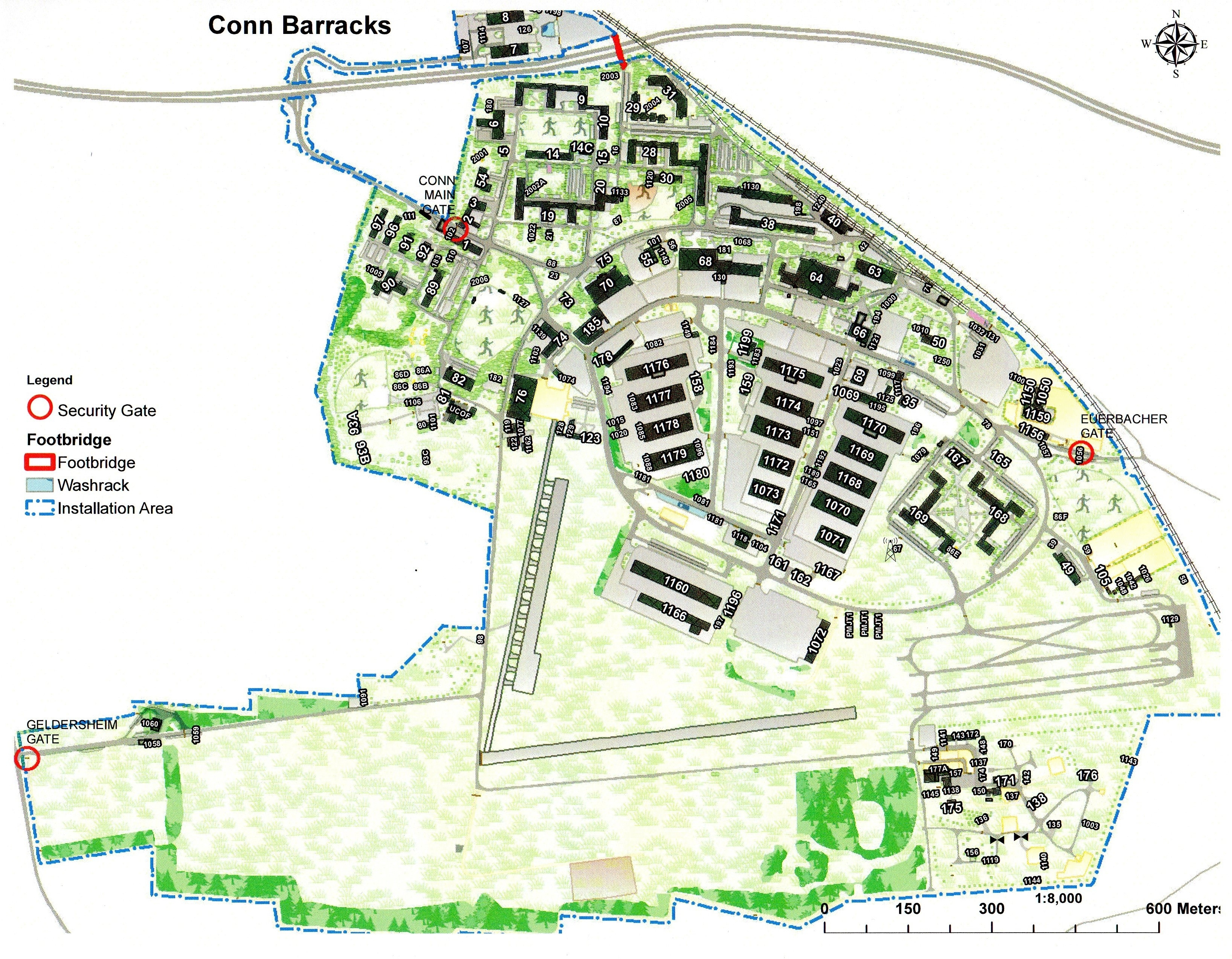 Conn Barracks intended for Army Bases In Germany Map