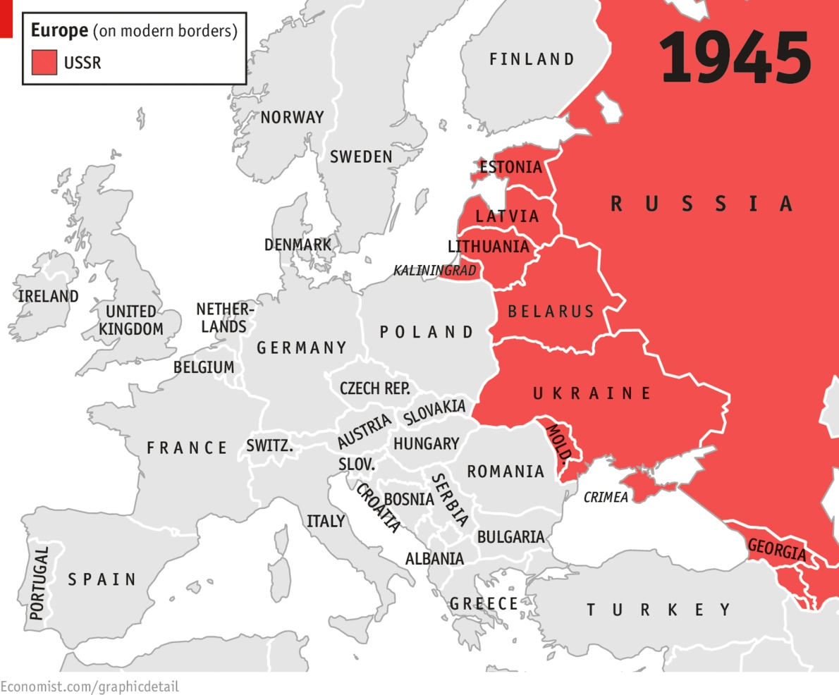 Daily Chart: Hammer And Scythe   The Economist regarding Map Of Divided Germany During The Cold War