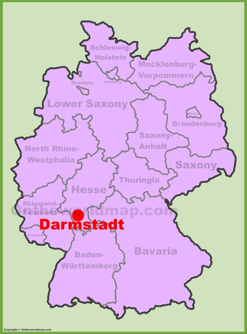 Darmstadt Location On The Germany Map in Darmstadt Hessen Germany Map