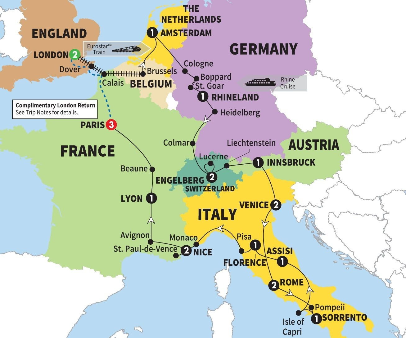 Delve Beneath The Obvious In Italy, Germany, France And Austria On intended for Map Of Germany And France