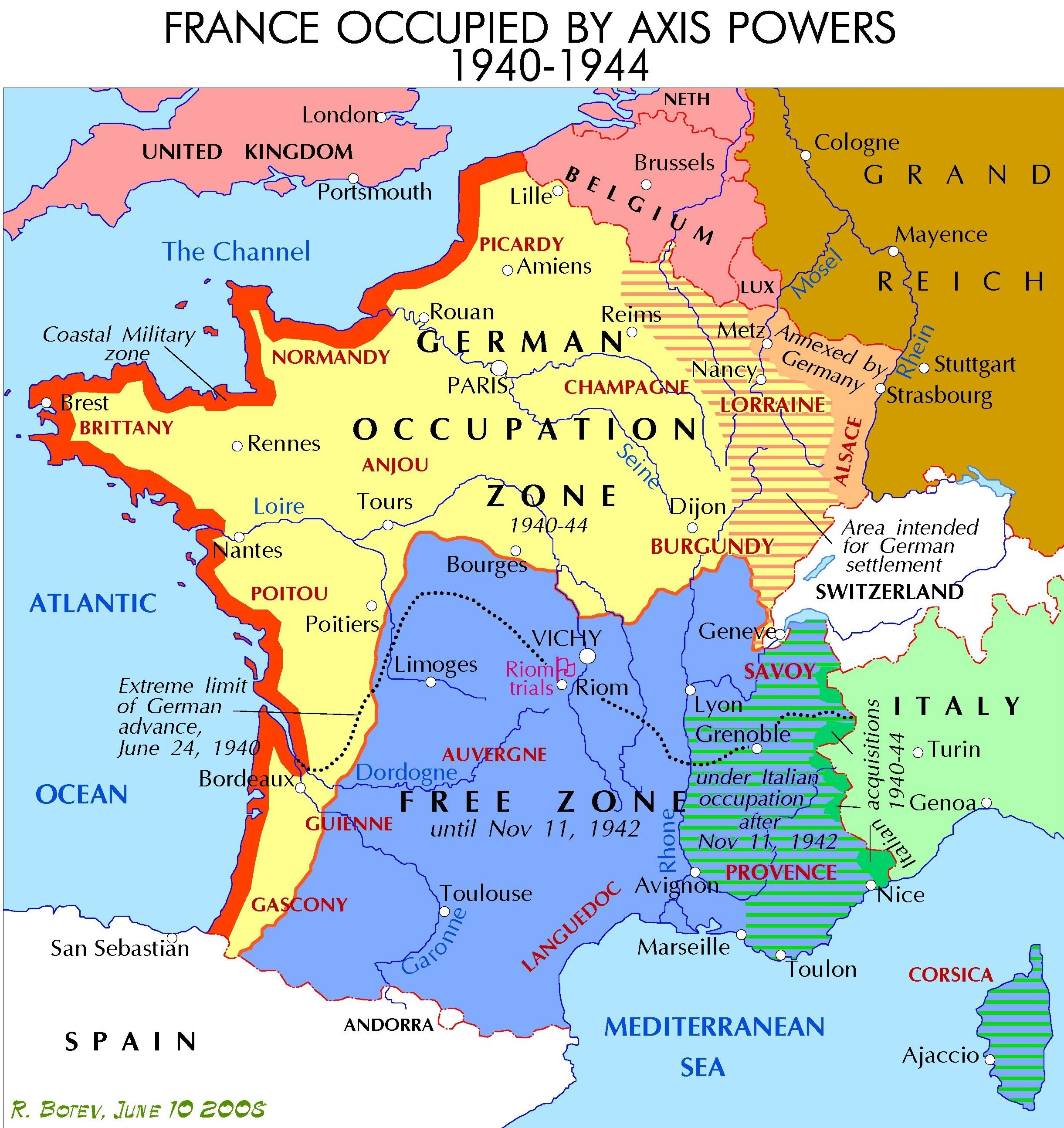 Demarcation Line (France) - Wikipedia intended for Ww2 German Occupation Map