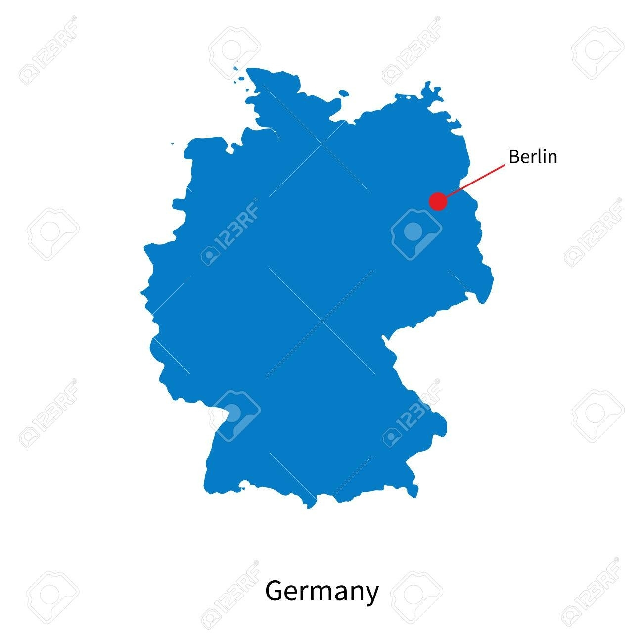 Detailed Map Of Germany And Capital City Berlin regarding Capital Of Germany Map
