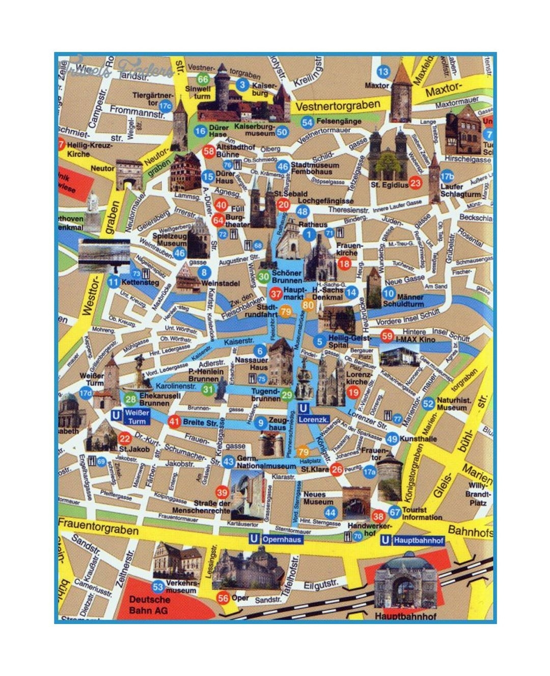 Detailed Tourist Map Of Central Part Of Dresden City   Dresden intended for Germany Map For Tourist
