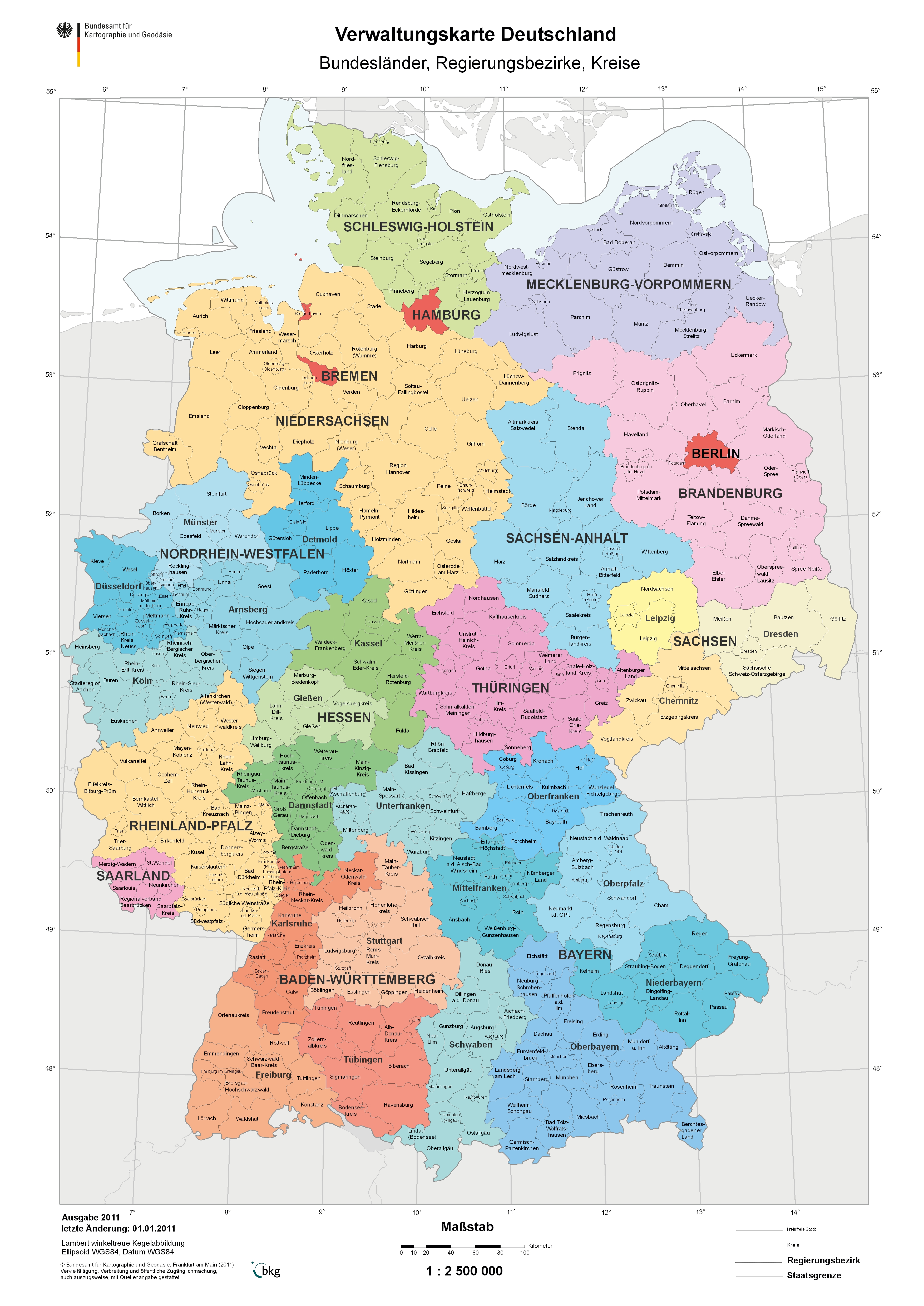Districts Of Germany   Gifex in Germany Districts Map