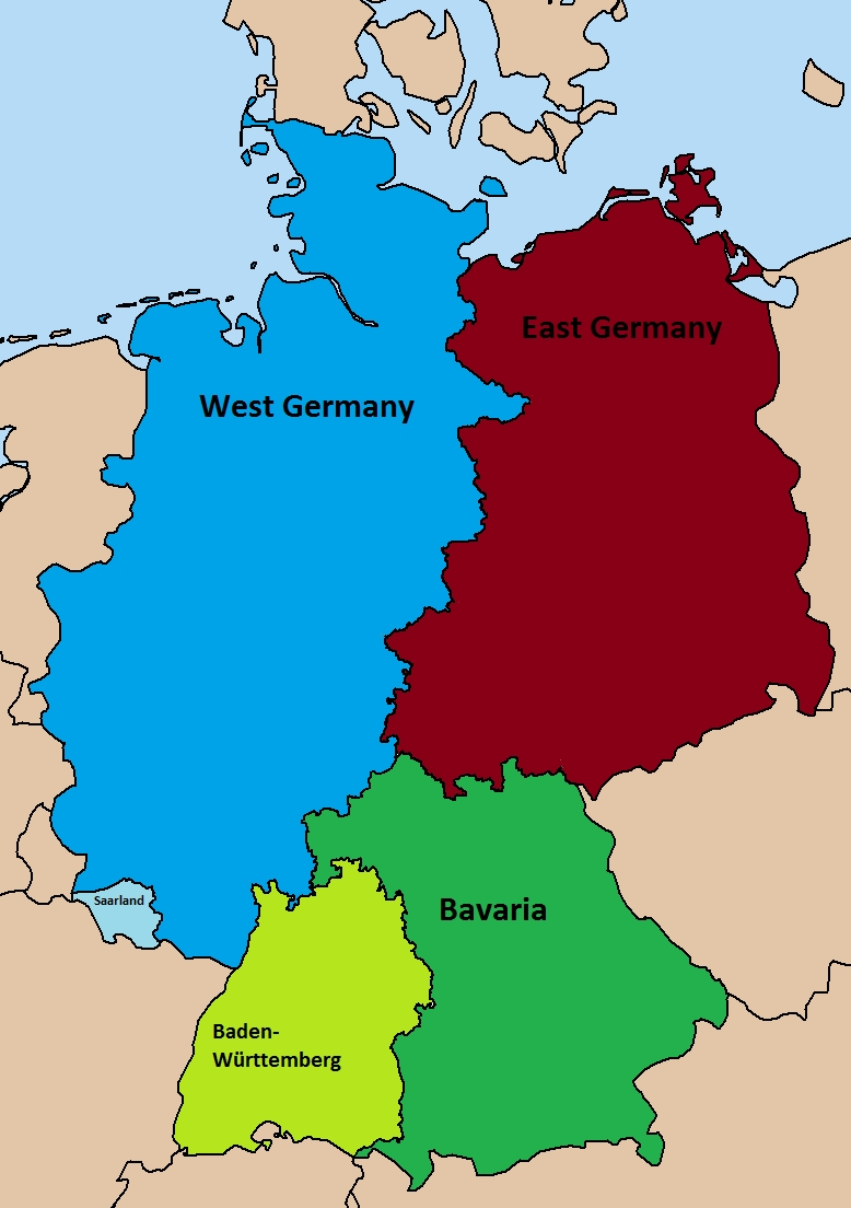 Divided Germany Map   Woestenhoeve within Map Of Germany Divided After Ww2