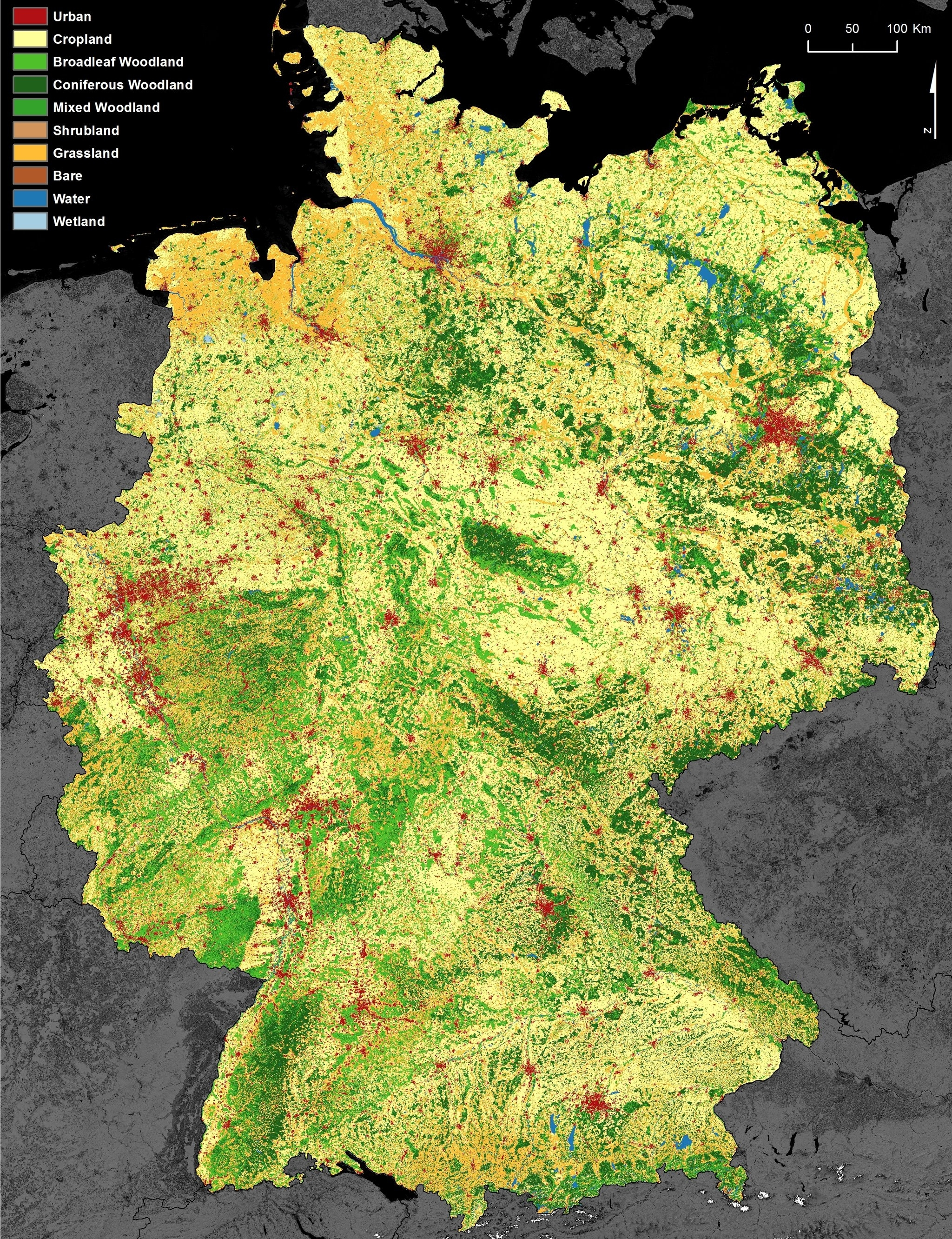 Dlr - Earth Observation Center - New Dfd Land Use And Land Cover Map regarding Germany Land Use Map