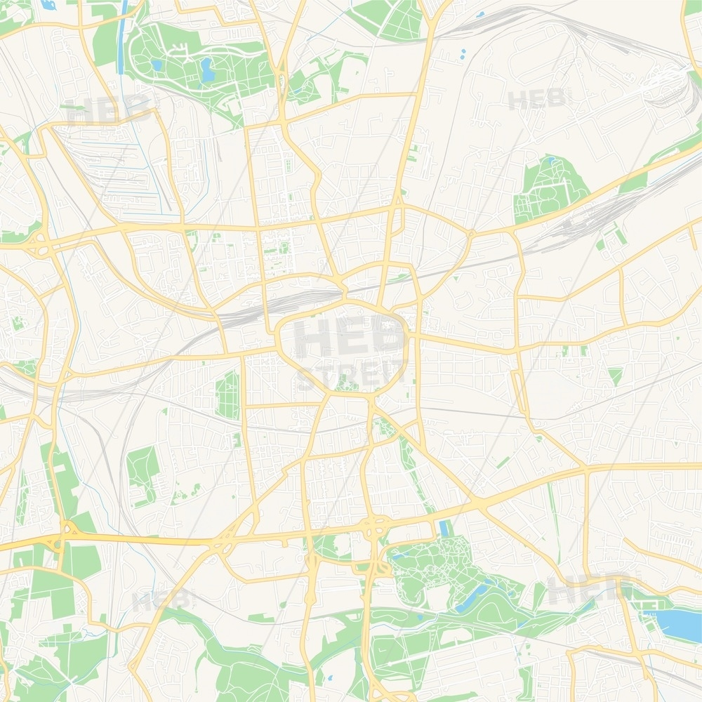 Dortmund, Germany Vector Map - Classic Colors with Dortmund Germany Map